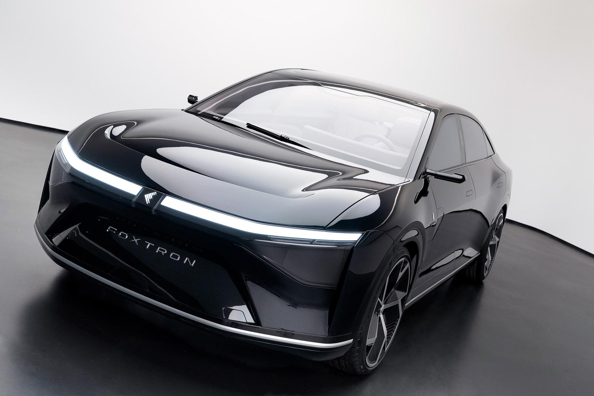 A closer look at Foxconn's Pininfarina-designed Foxtron Model E electric sedan