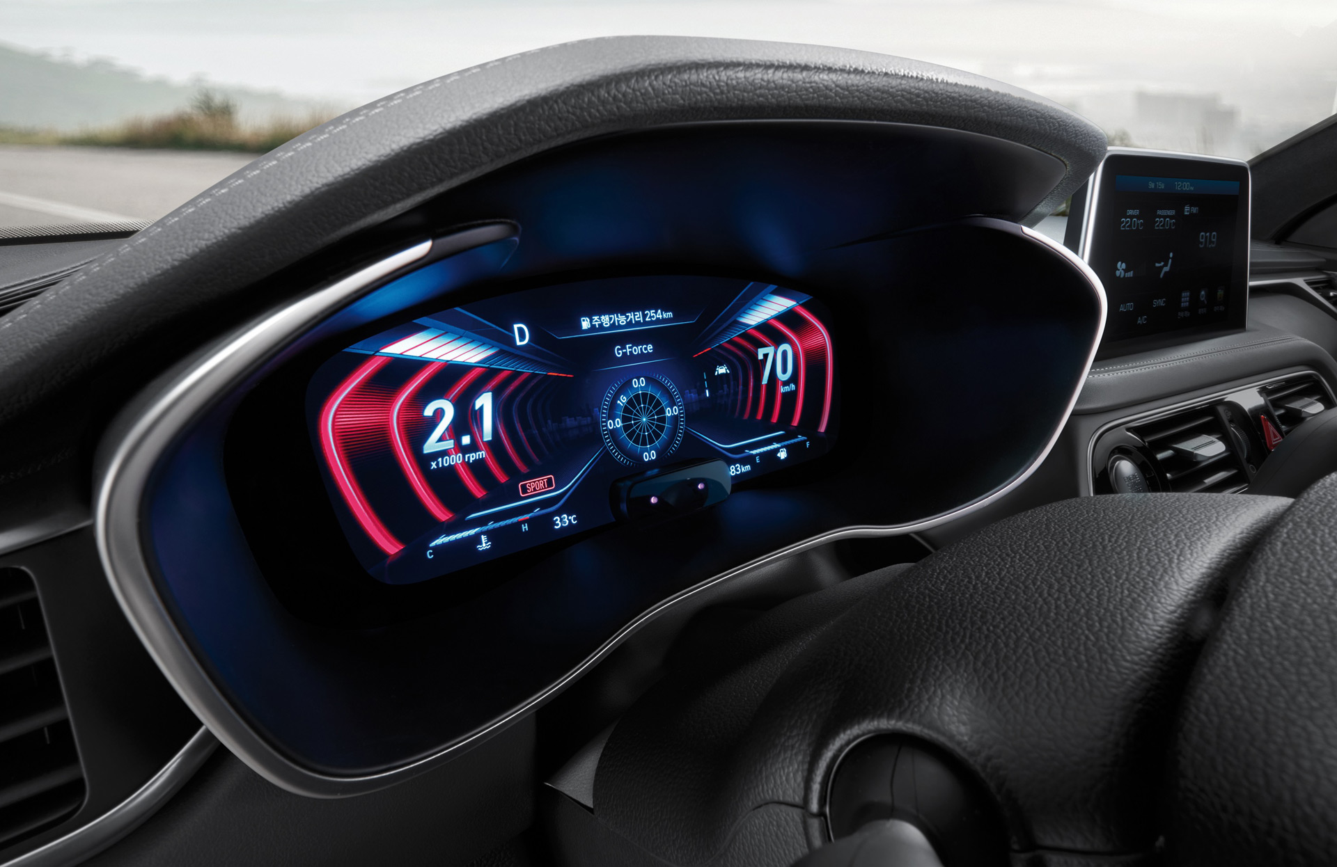 Genesis gives first look at 3D digital instrument cluster
