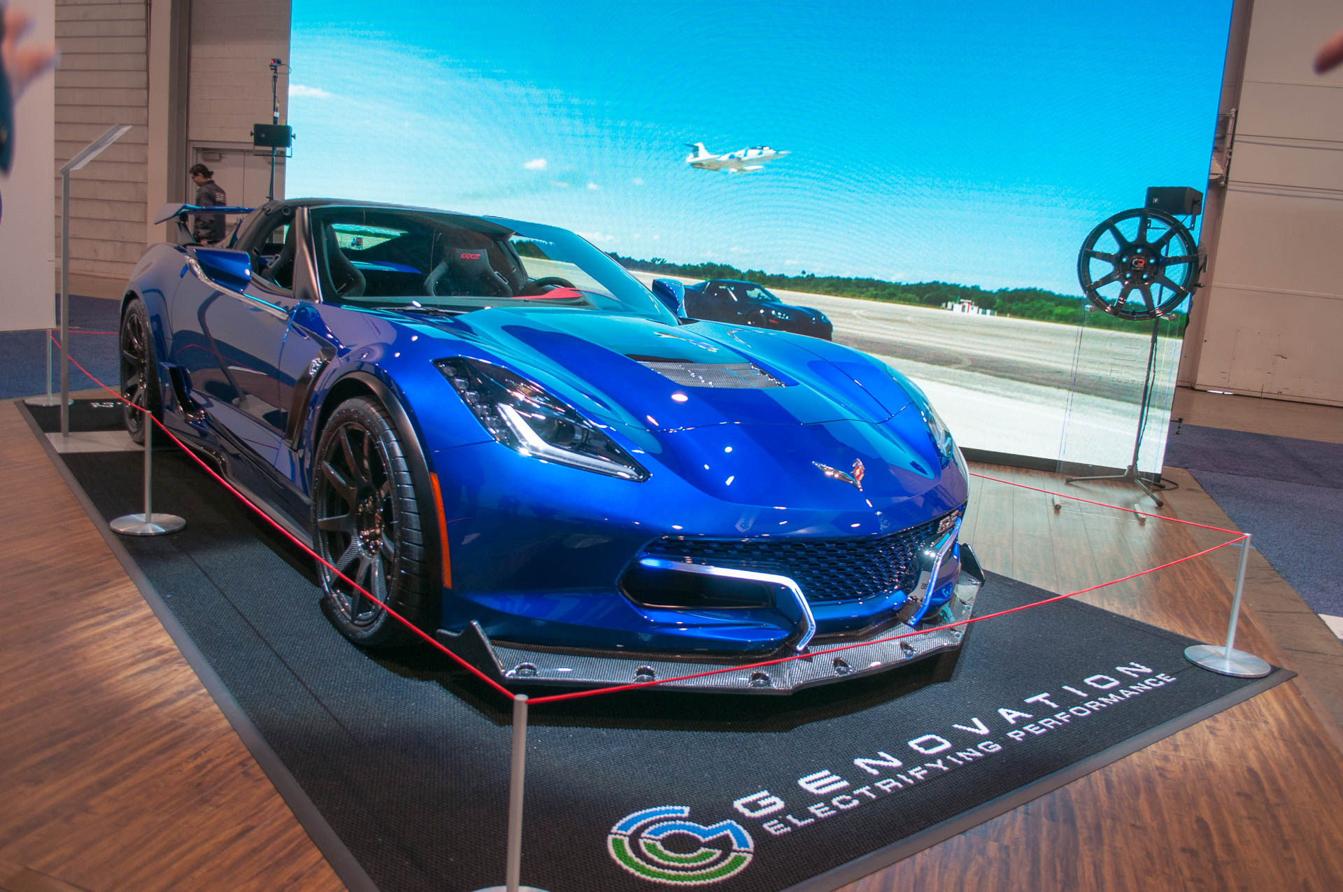 Genovation's 800-horsepower Corvette EV debuts at 2018 CES