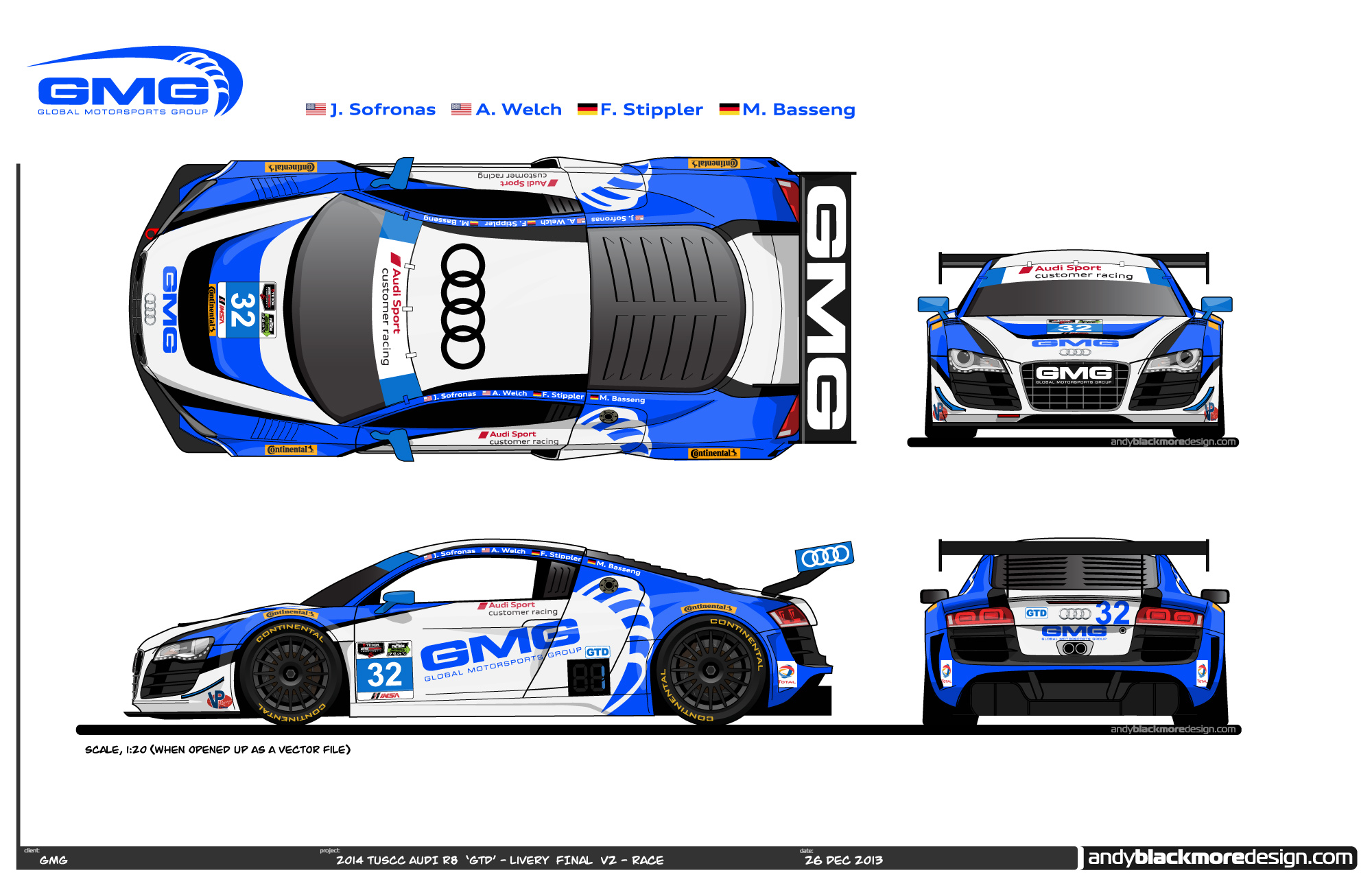 daytona 24 hour audi r8 lms gtd driver lineups liveries revealed. Black Bedroom Furniture Sets. Home Design Ideas