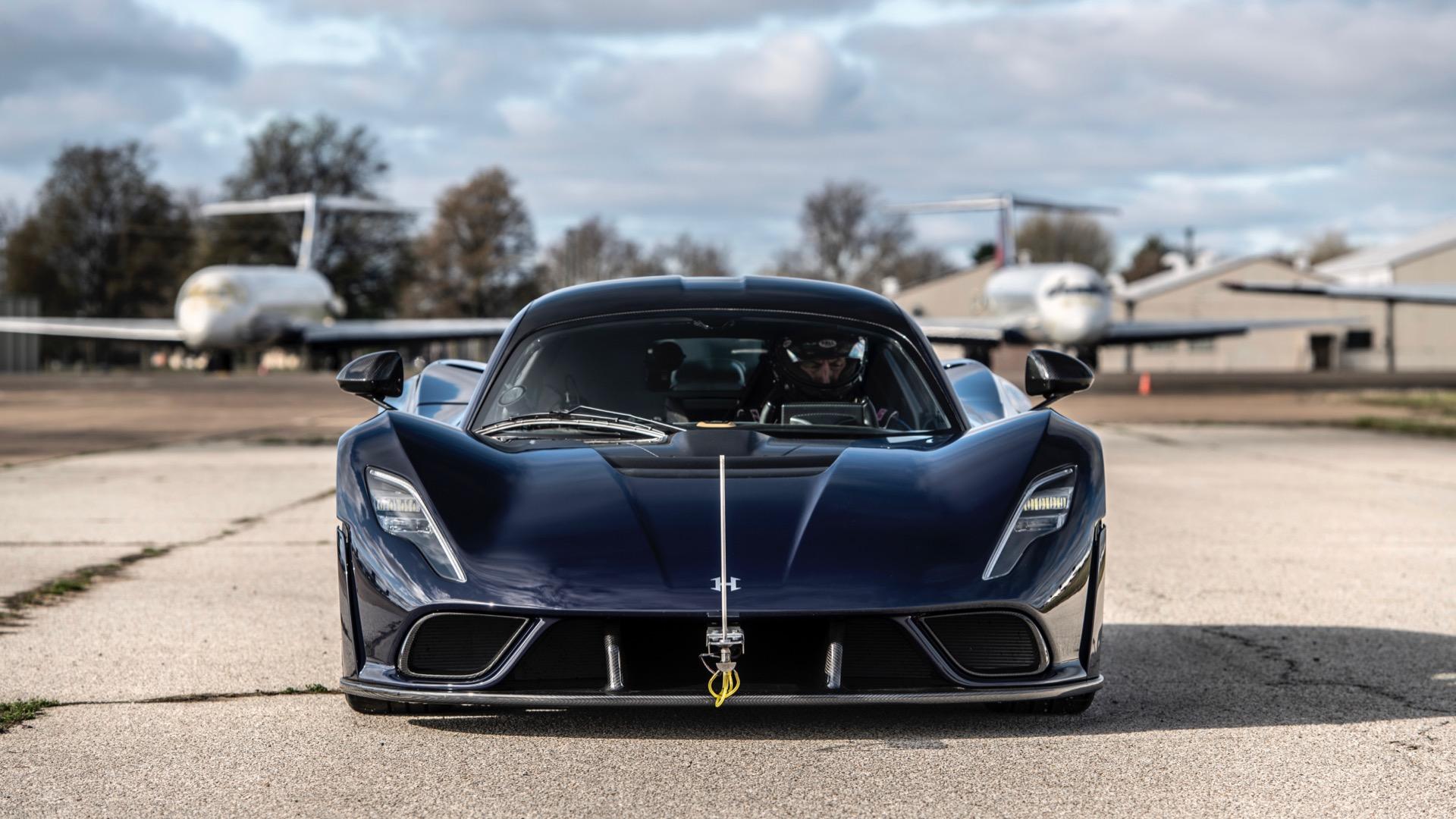 Hennessey Venom F5 aerodynamics testing