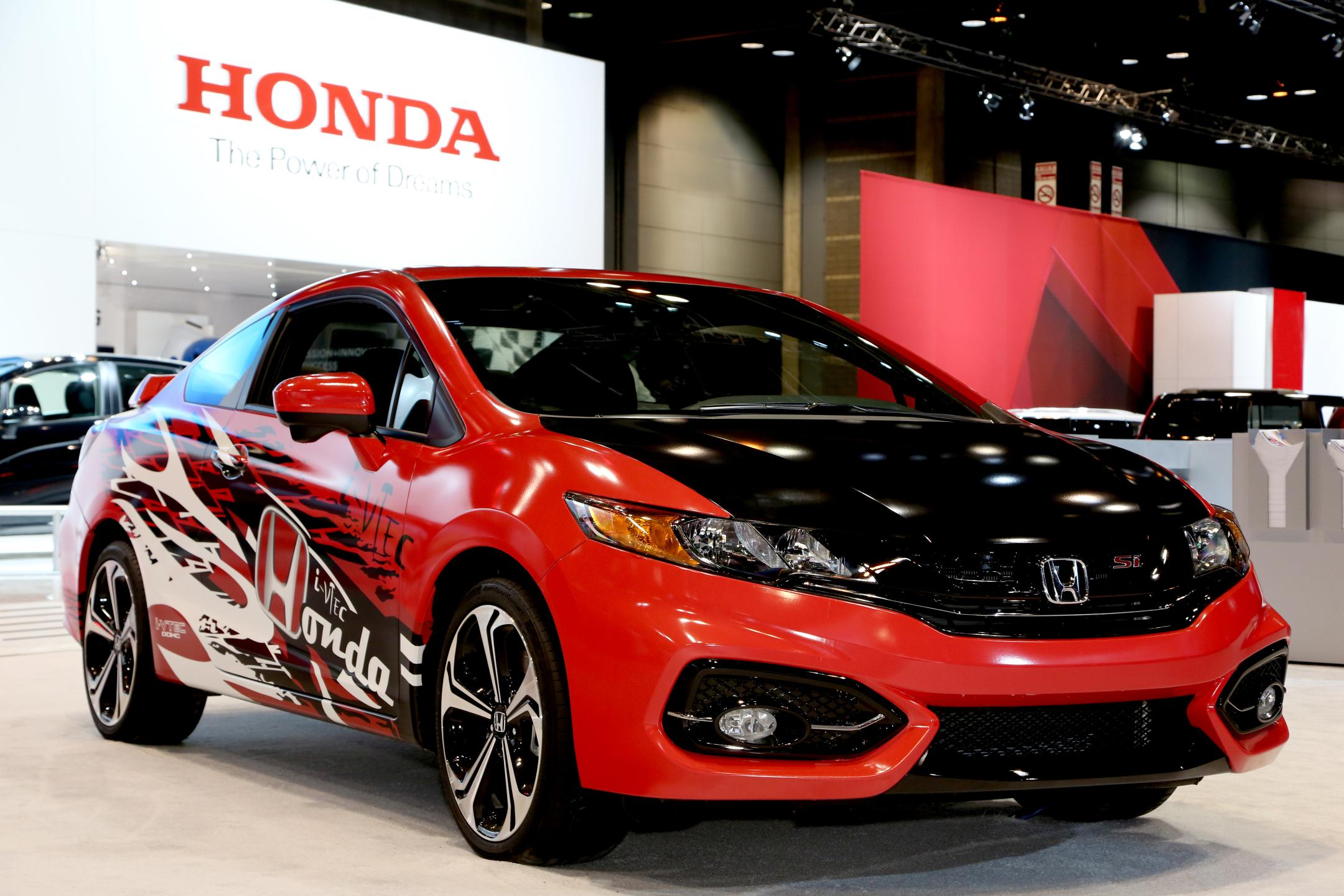 honda shows gamer 39 s custom forza civic si at chicago auto show. Black Bedroom Furniture Sets. Home Design Ideas