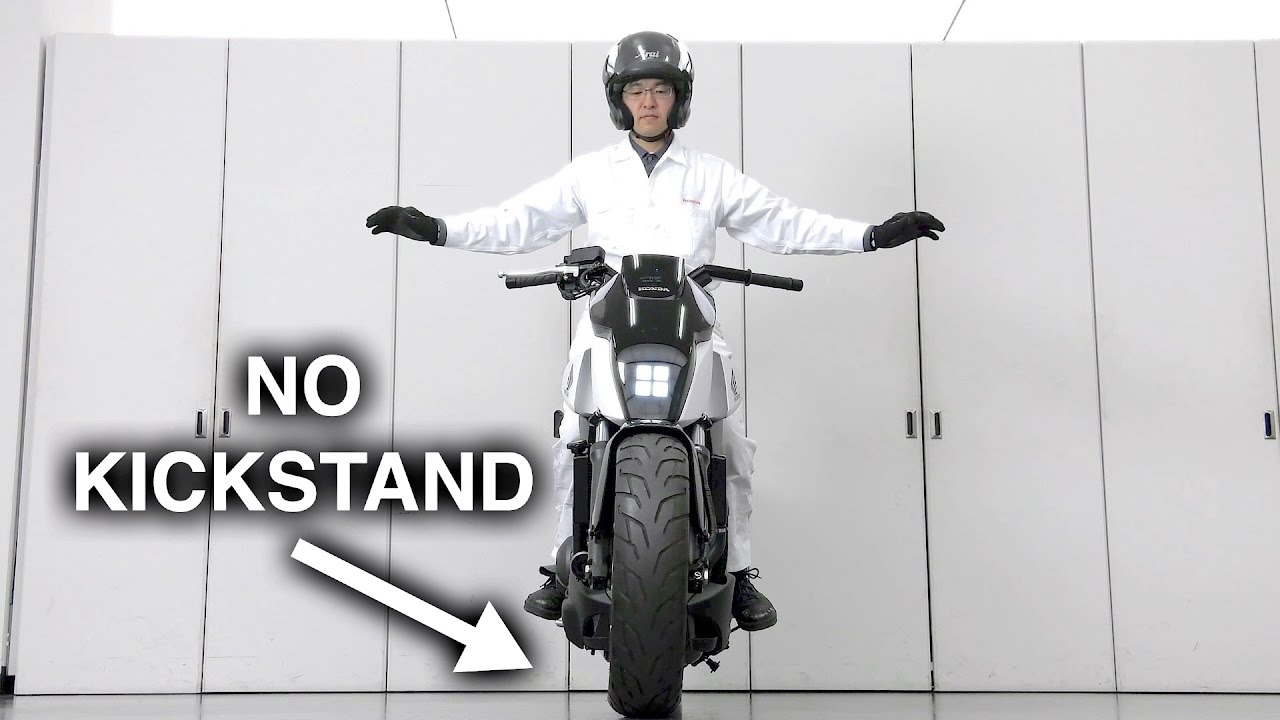 How Honda's self-balancing motorcycle works