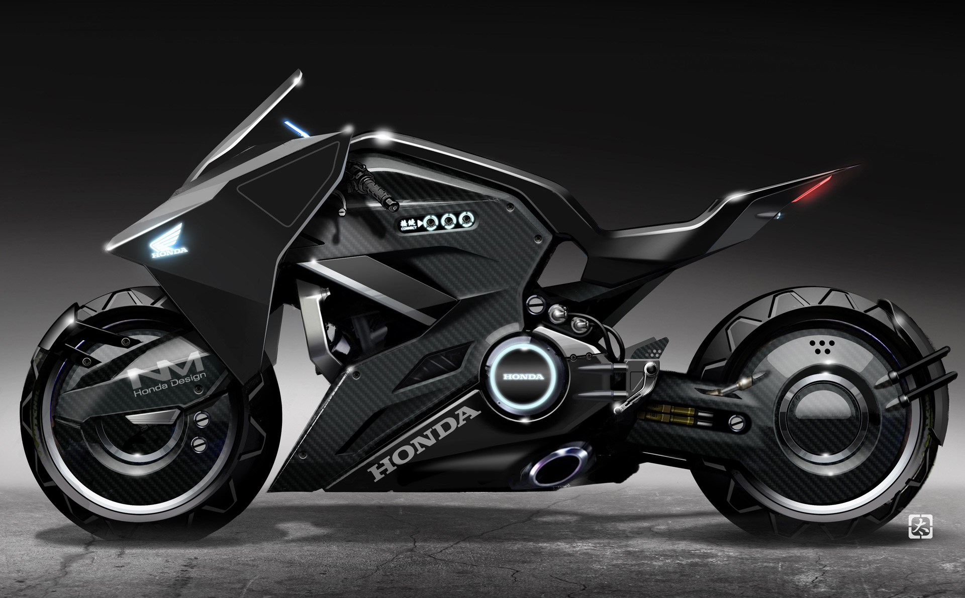 futuristic honda motorcycle to star in �ghost in the shell�