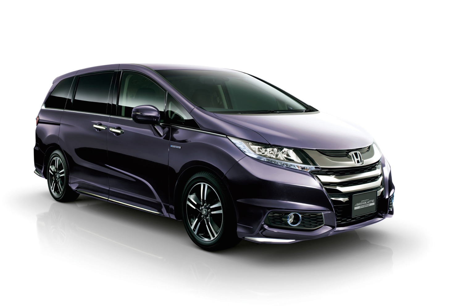 Honda Hybrid Minivan On In An