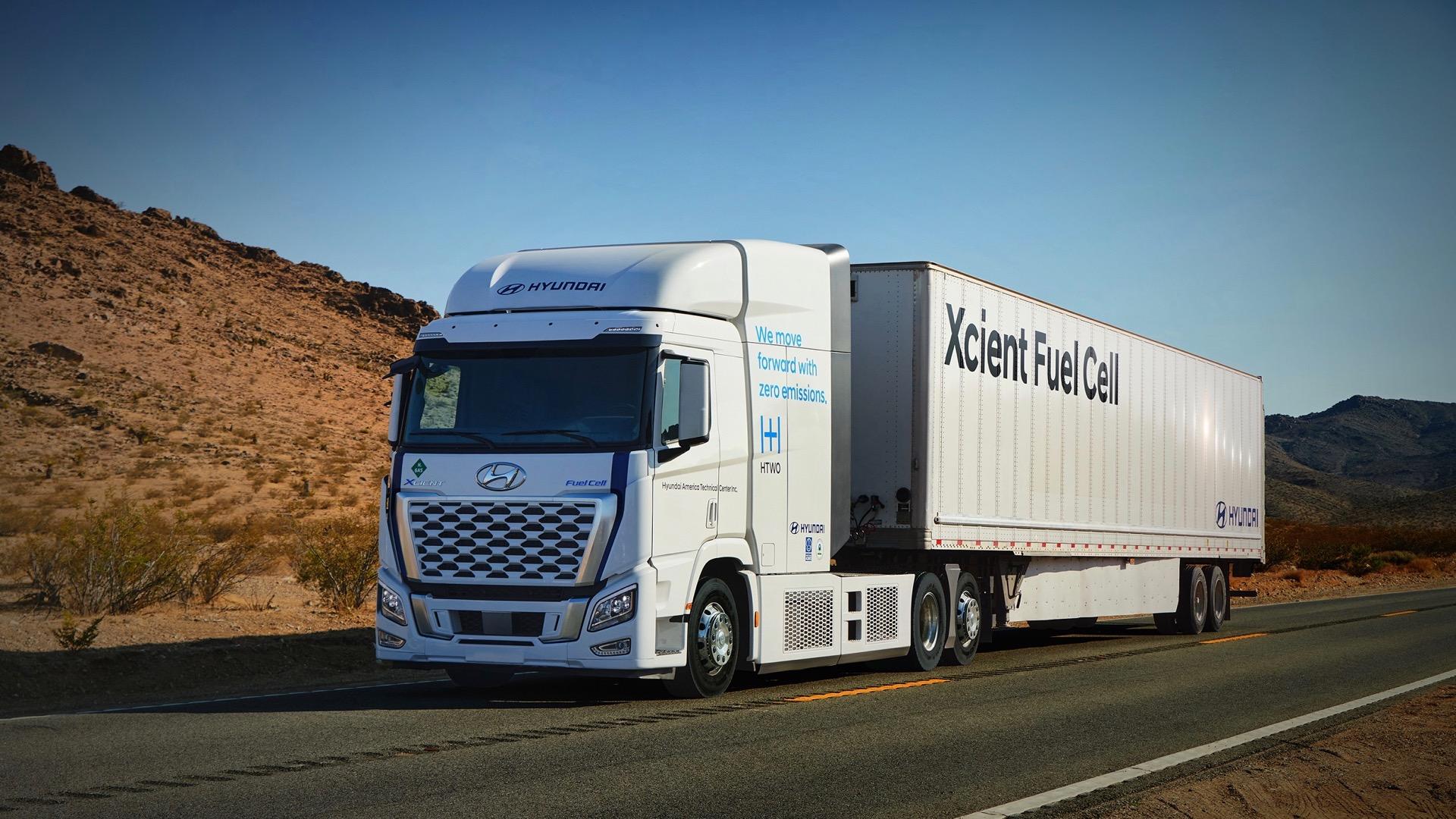 Hyundai will test 500-mile hydrogen fuel-cell semis in California