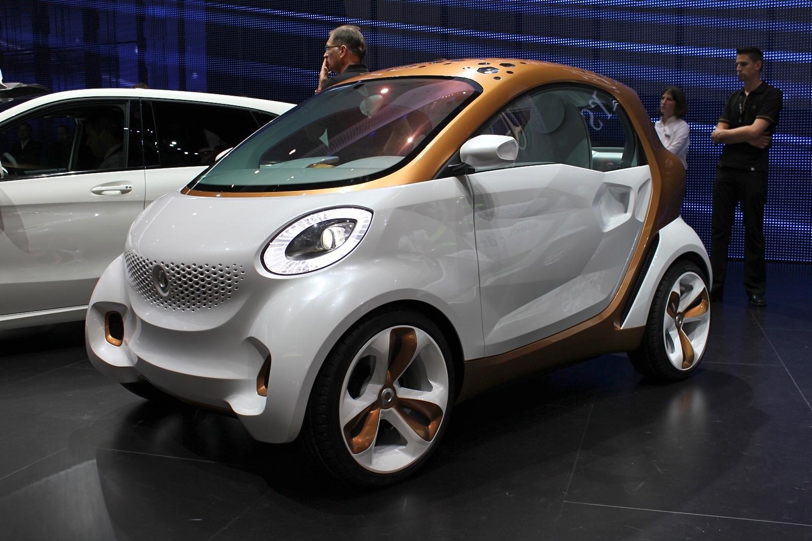 Smart Forvision Electric Car Concept Frankfurt Live Photos