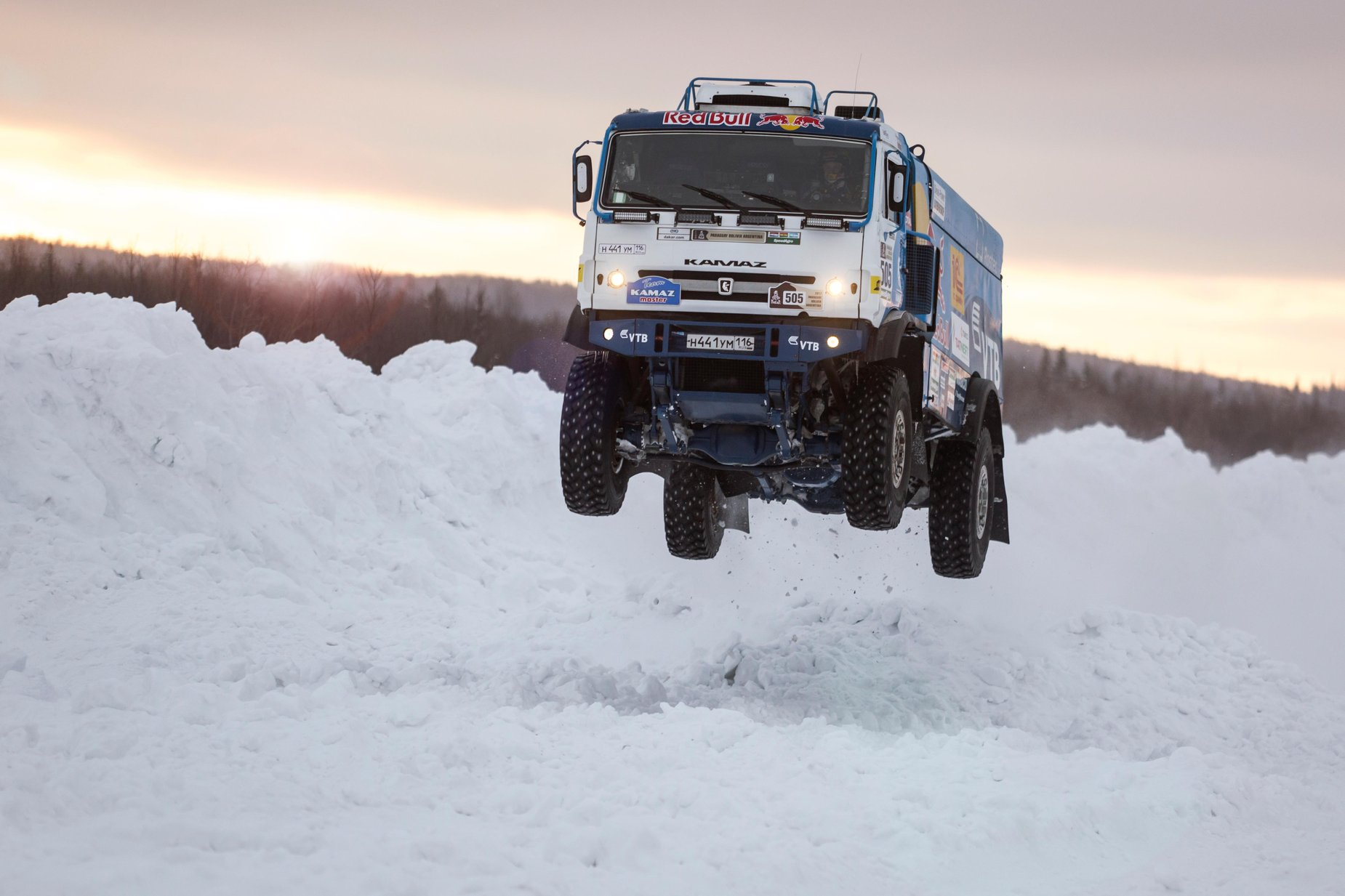 This 1,000-hp, 10-ton Dakar Rally truck can fly