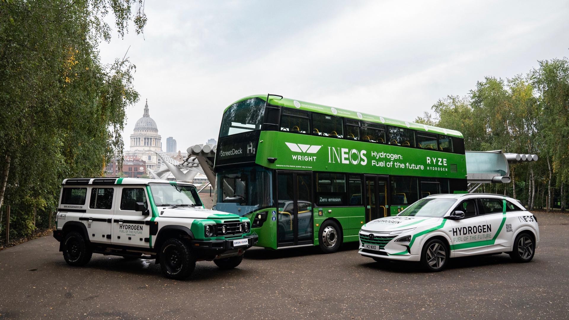 Ineos unveils fuel-cell SUV prototype, announces hydrogen production plans