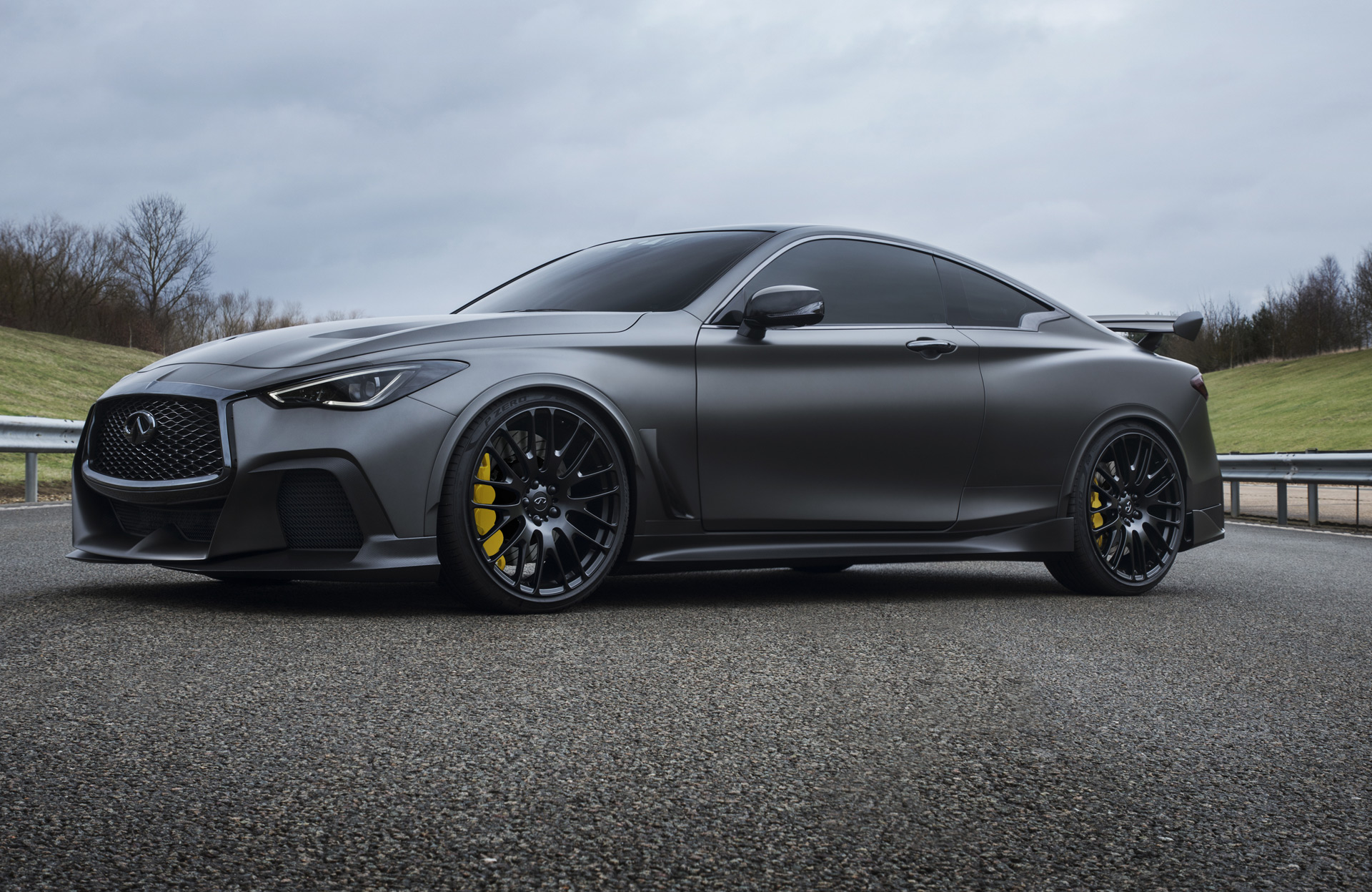 infiniti 39 s q60 project black s will wear special made pirelli tires. Black Bedroom Furniture Sets. Home Design Ideas