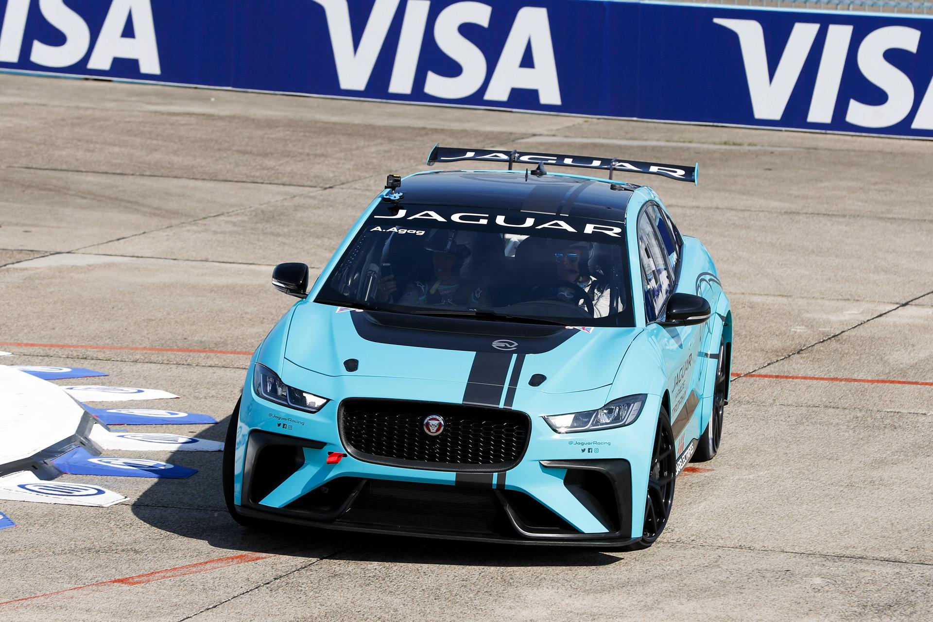 Jaguar I Pace Race Car Makes Driving Not Racing Debut At 2018 Formula E Berlin Prix
