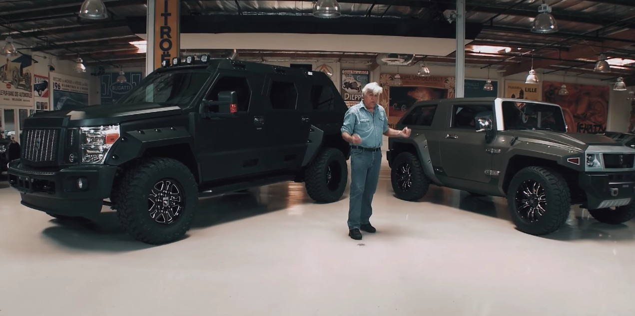 Jay Leno Gets A Visit From The Massive Ussv Rhino Gx