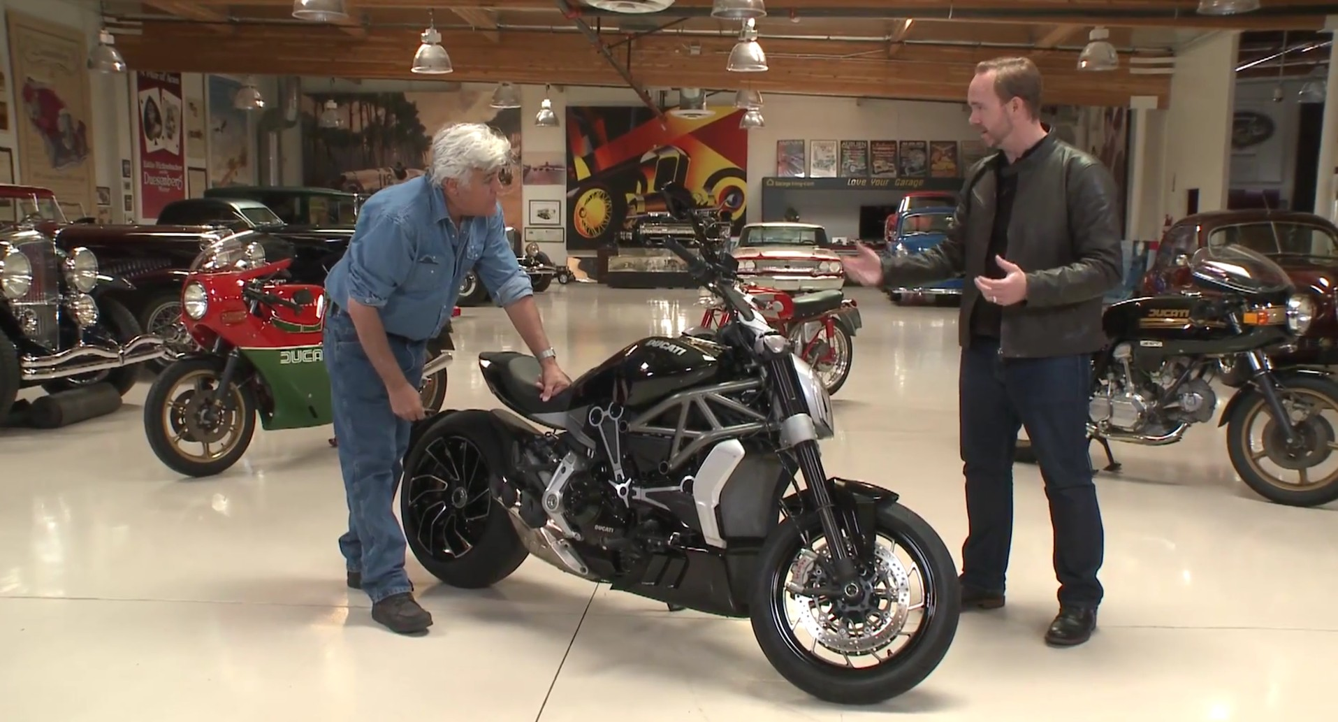 Jay Leno Tests The Ducati Xdiavel S