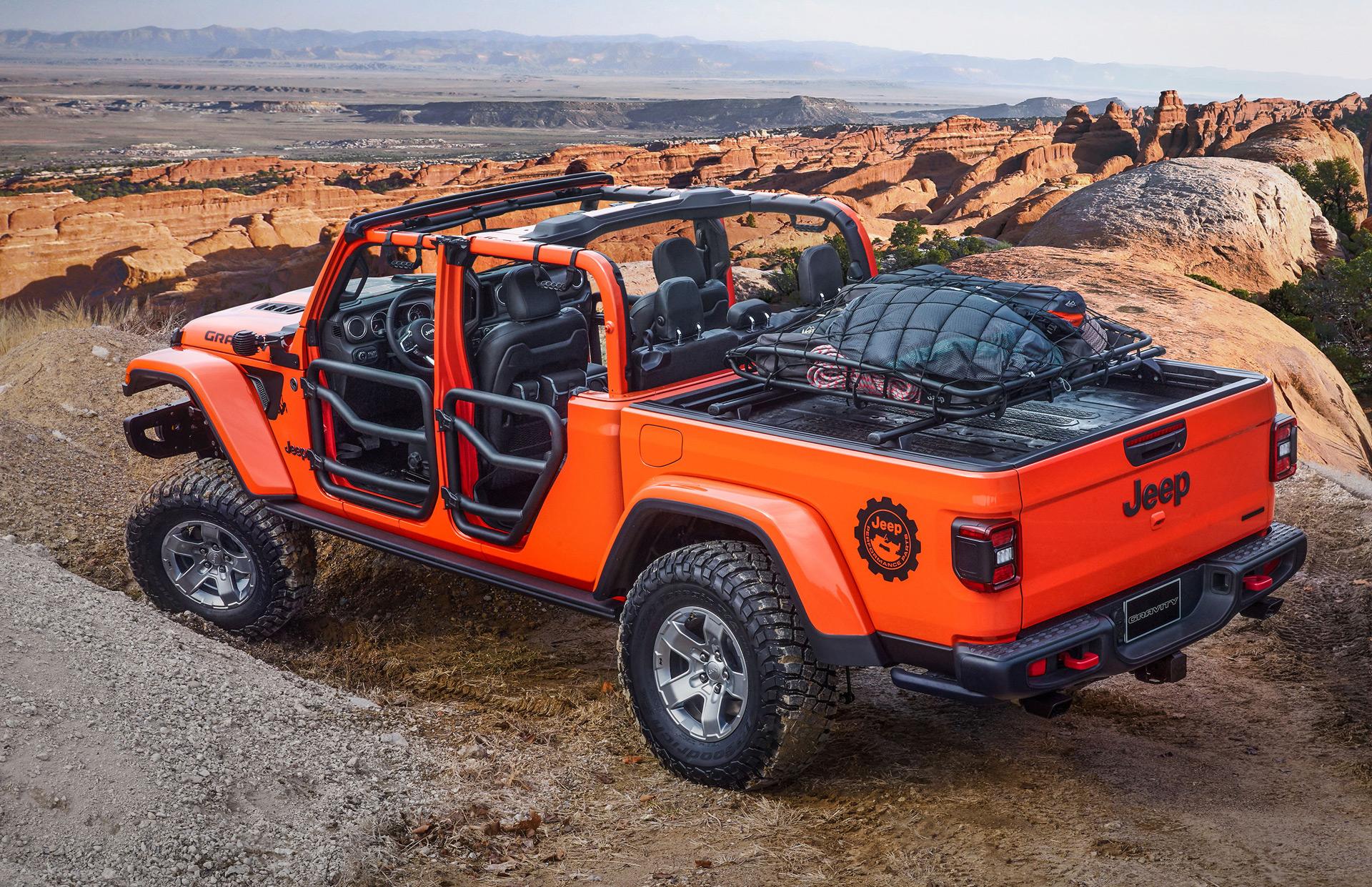 Concepto de gravedad jeep gladiador