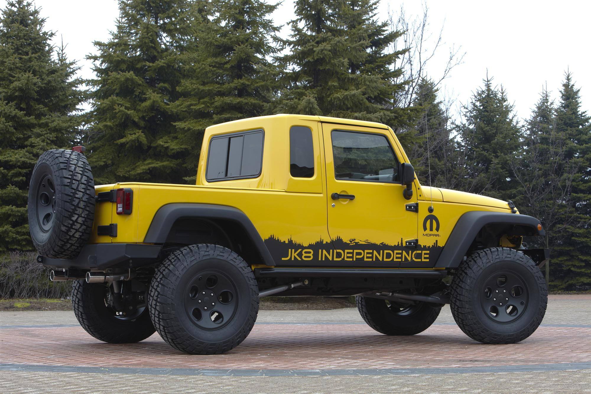 Jeep Jk 8 >> Jeep Wrangler Unlimited Jk 8 Pickup Conversion Package Priced At 5 499