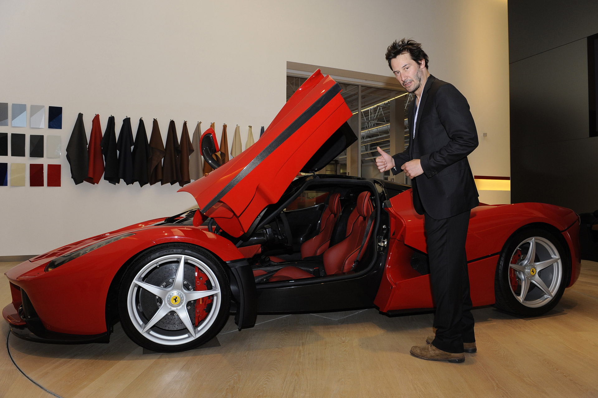 keanu reeves excellent adventure at ferrari in maranello