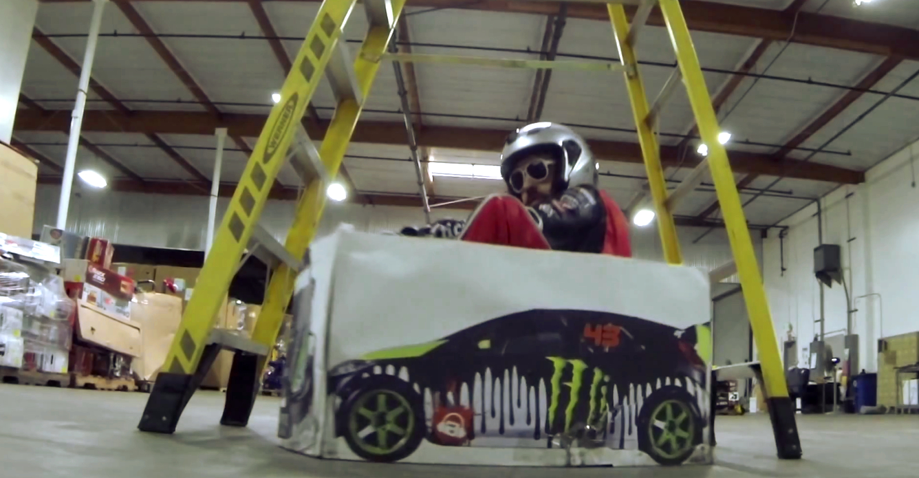 Ken Box Shows Anyone Can Do Gymkhana Video