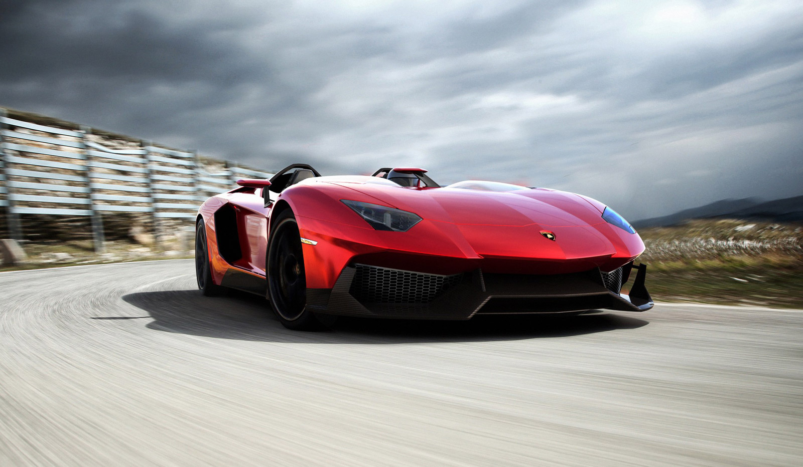 Lamborghini Aventador J Runs The Mountain Video