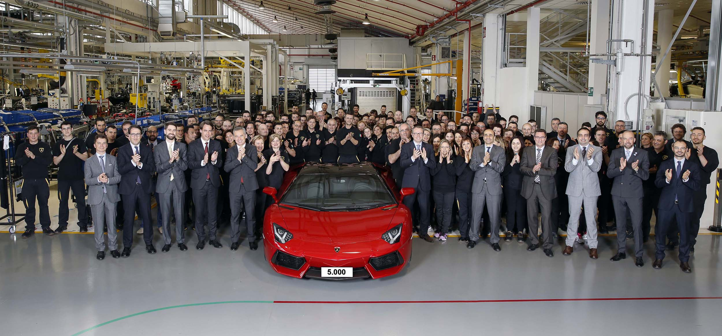 Lamborghini builds 5,000th Aventador