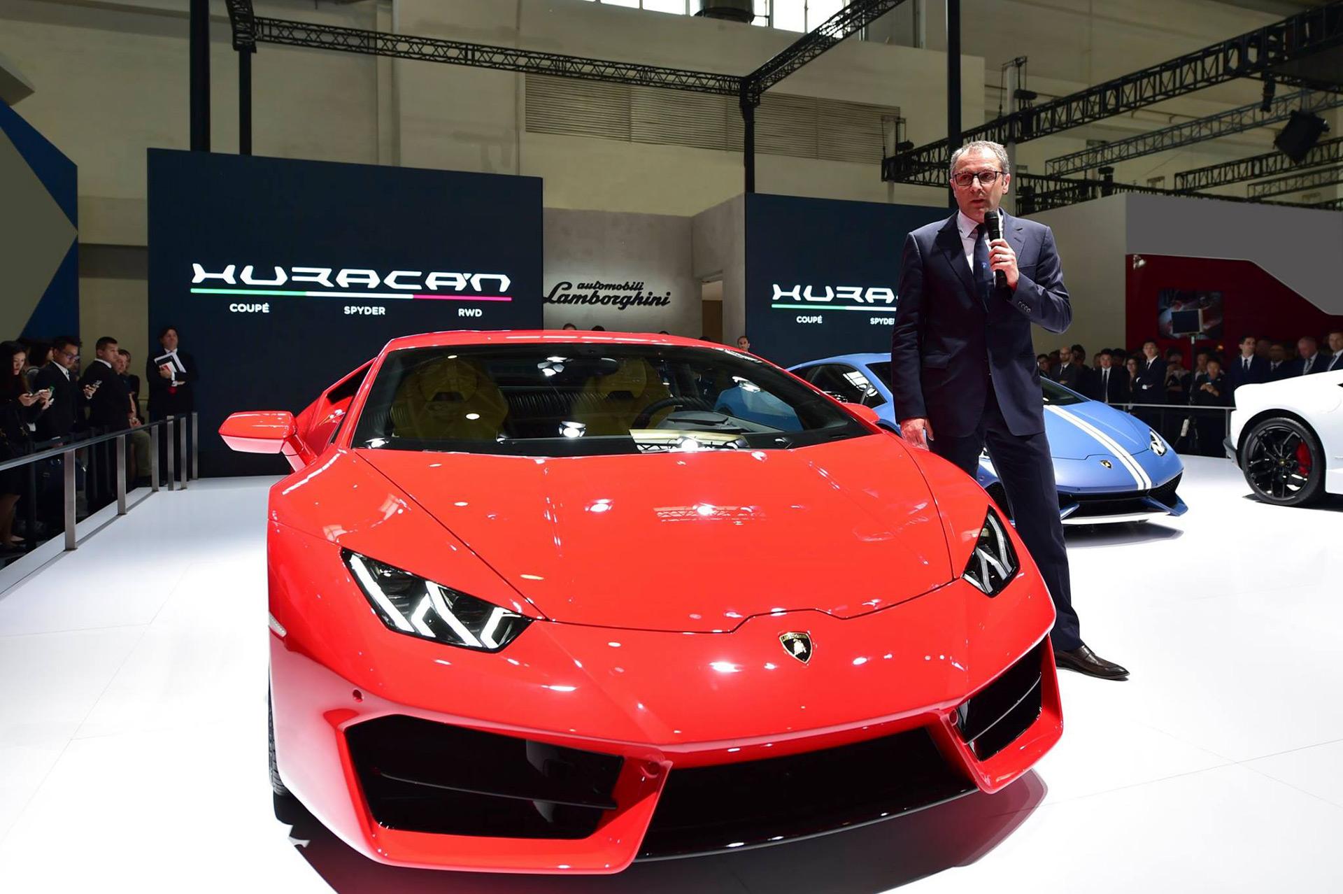 Stefano Domenicali Makes First Presentation As Lamborghini Ceo