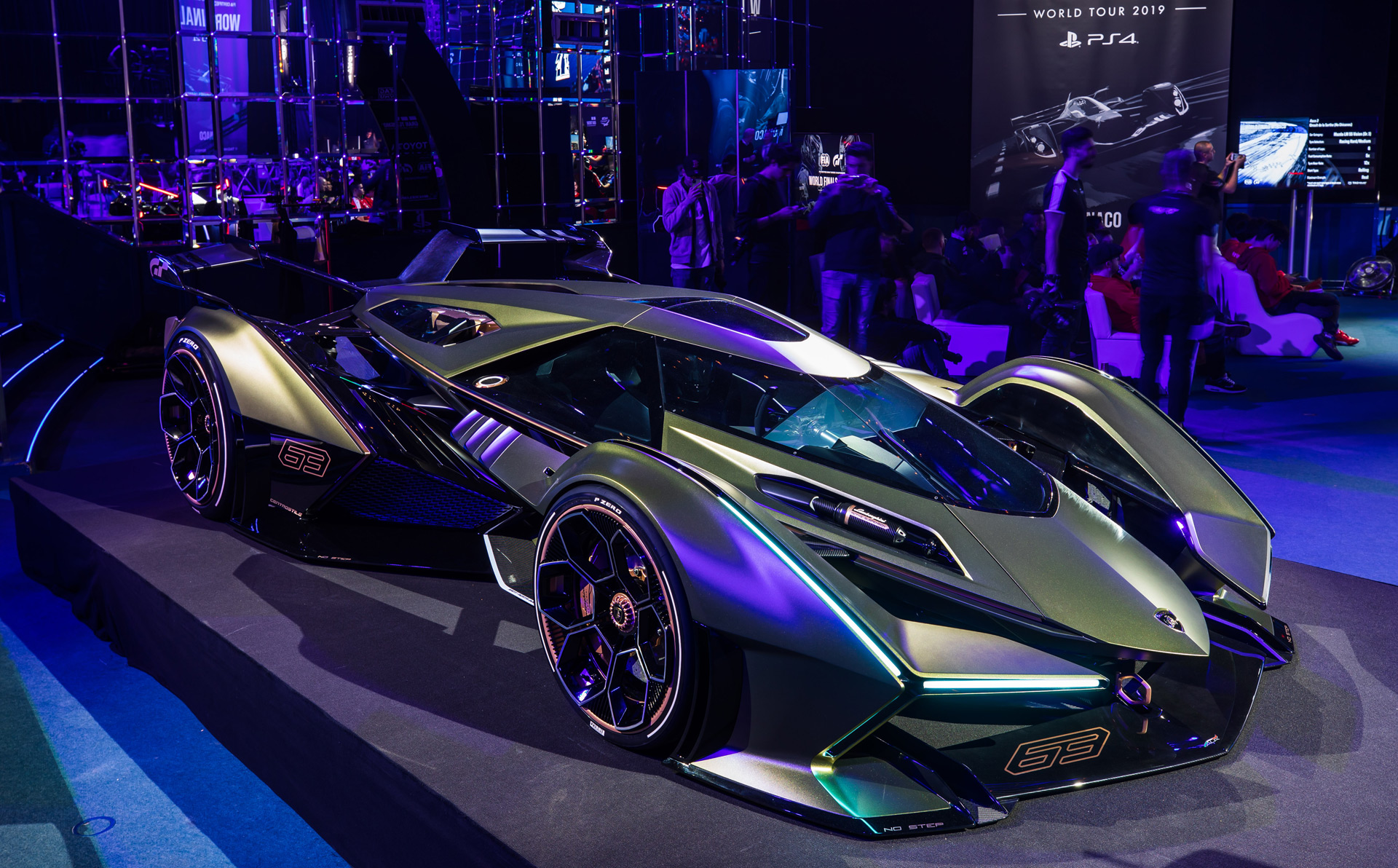 Lambo V12 Vision Gran Turismo is a single-seater from the ...