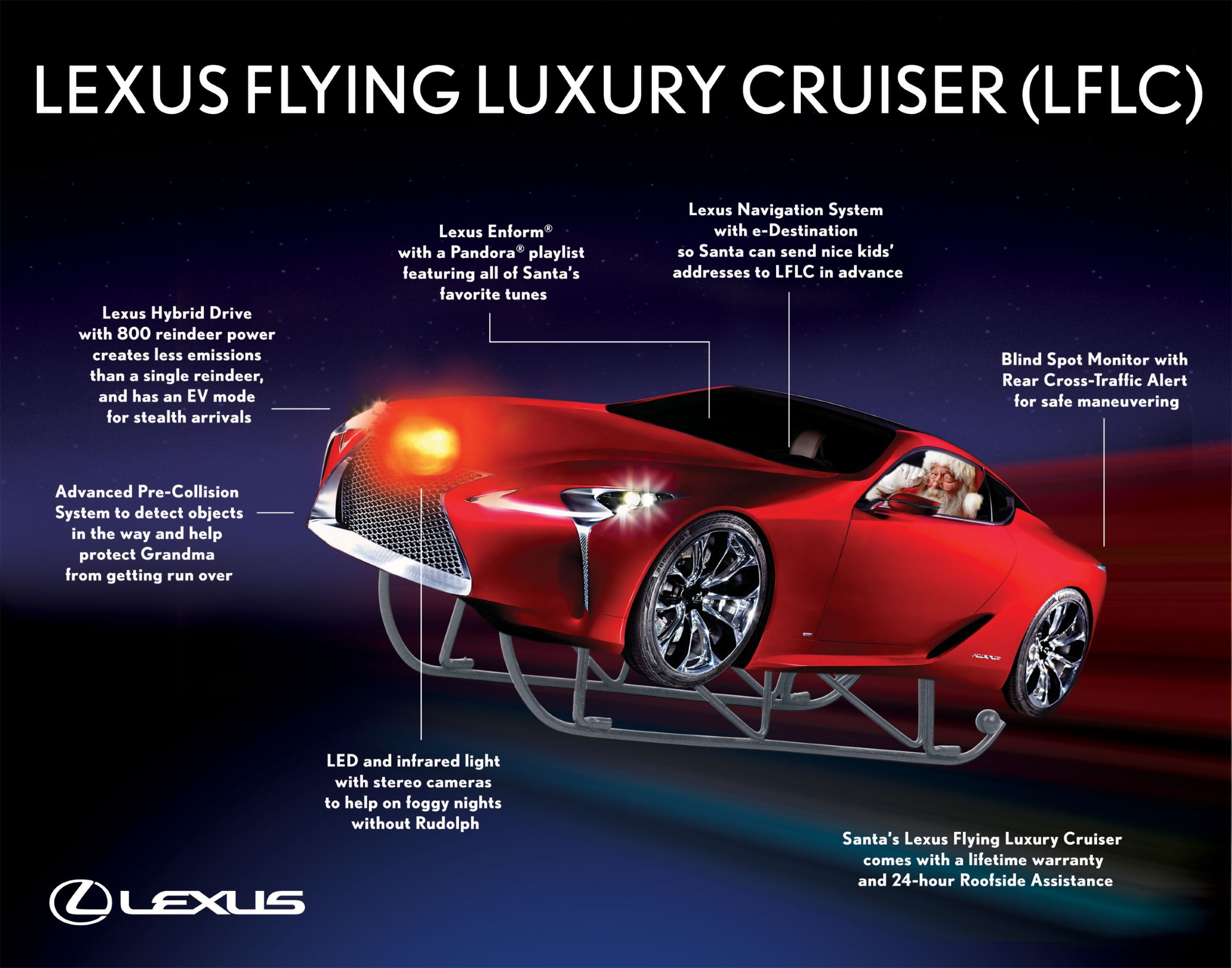 Lexus Flying Car >> Reindeer Union Protests Lexus Santa Over New Sleigh