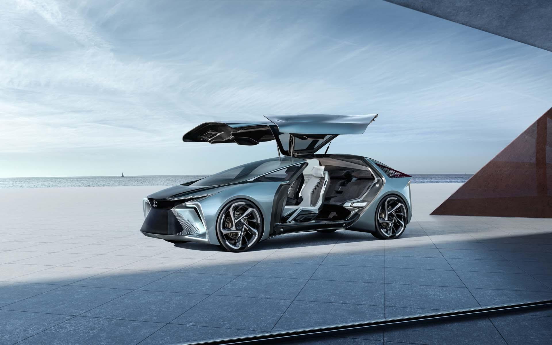 Lexus Lf 30 Electrified Is A 536 Horsepower Ev With Gullwing Doors In Wheel Motors