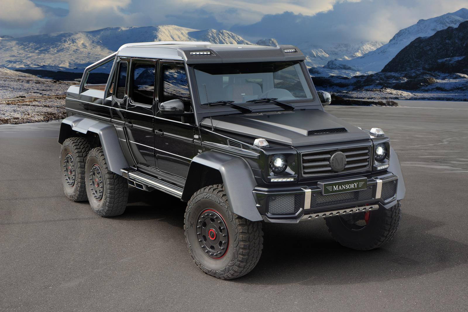 mansory mercedes g63 amg 6x6: no more wheels, much more power
