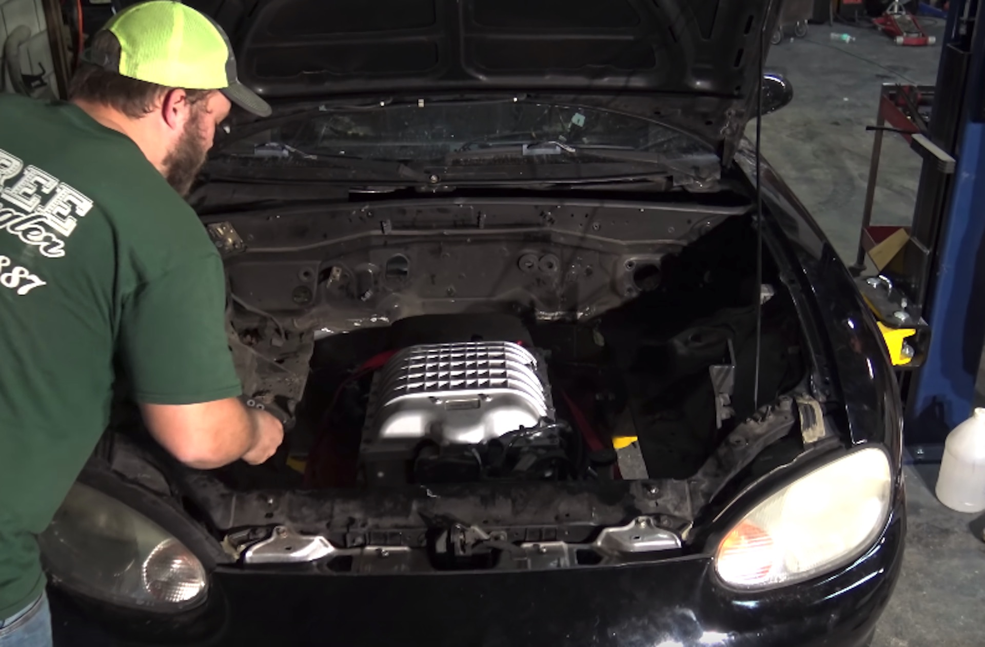Ls Swaps Are So Last Week Shop Drops Hellcat Into Mazda Mx 5 Miata