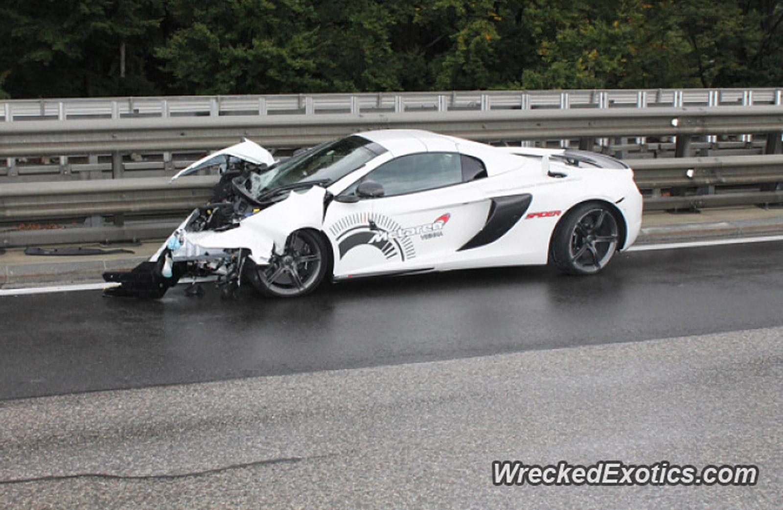 McLaren 650S Spider Crashes Into Guardrail In Austria