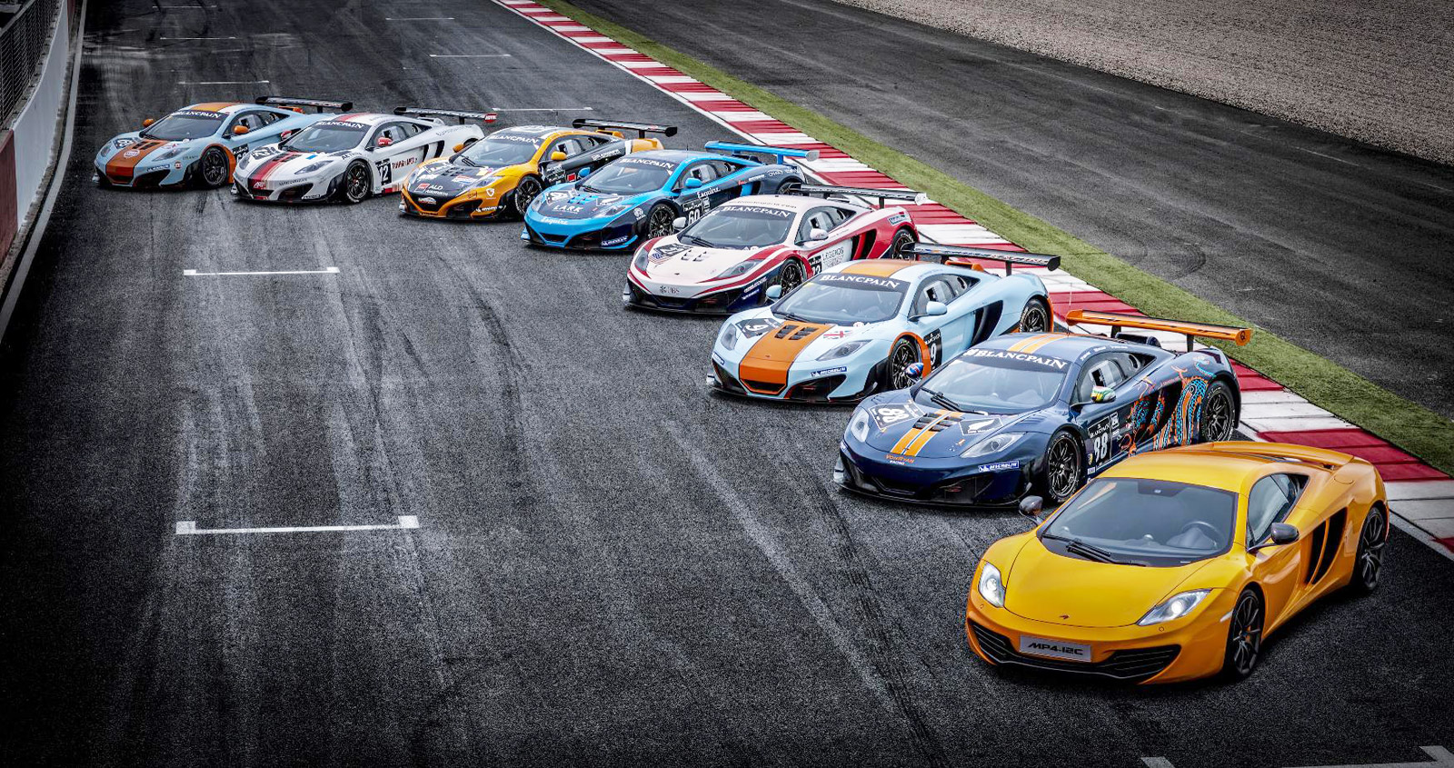 fleet of nine mclaren mp4 12c gt3s to tackle spa 24 hours rh motorauthority com race car circuits of the world race car circuit board