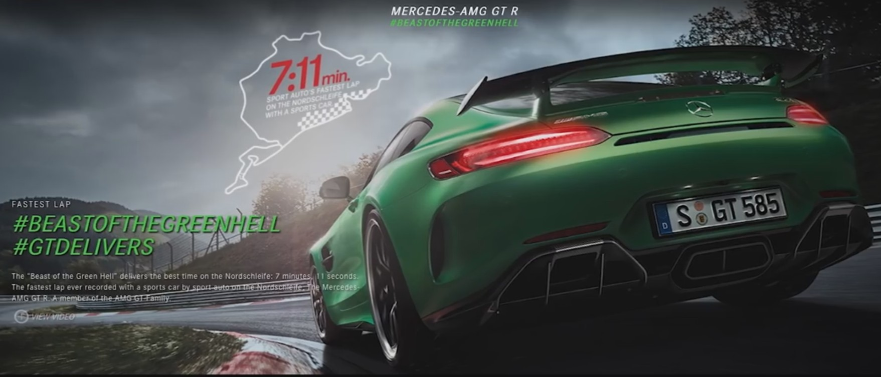 Documentary Series Dives Into The Mercedes Amg Gt R And Its Ties To The Nurburgring