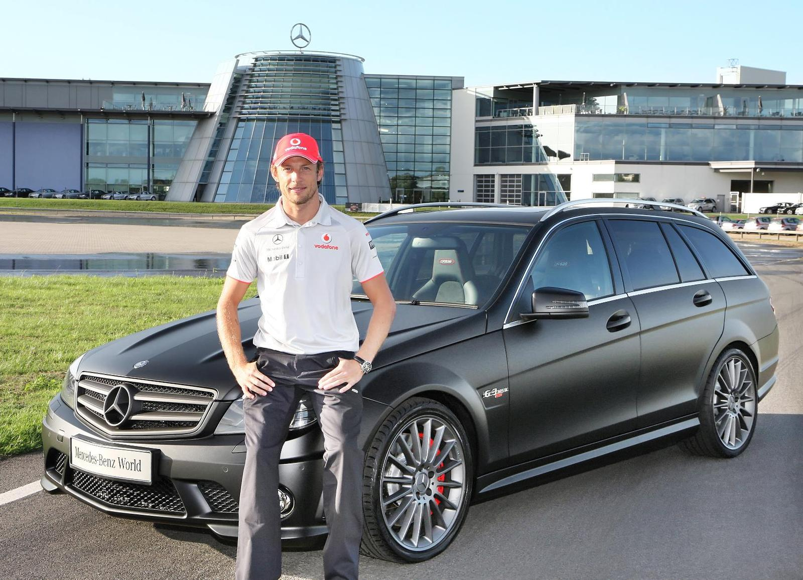 Jenson Button Gets His Mercedes C63 Amg Dr 520 Uber Wagon
