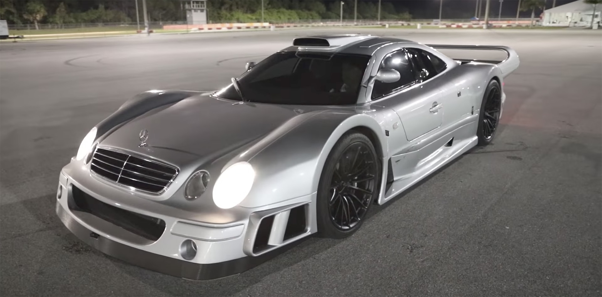 enjoy the sights and sounds of the mercedes benz clk gtr. Black Bedroom Furniture Sets. Home Design Ideas