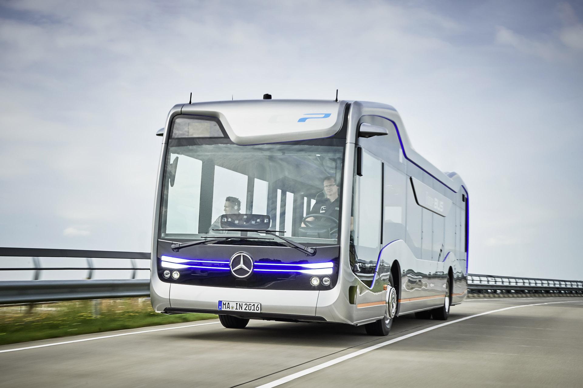 Mercedes benz unveils autonomous bus concept for Mercedes benz busses