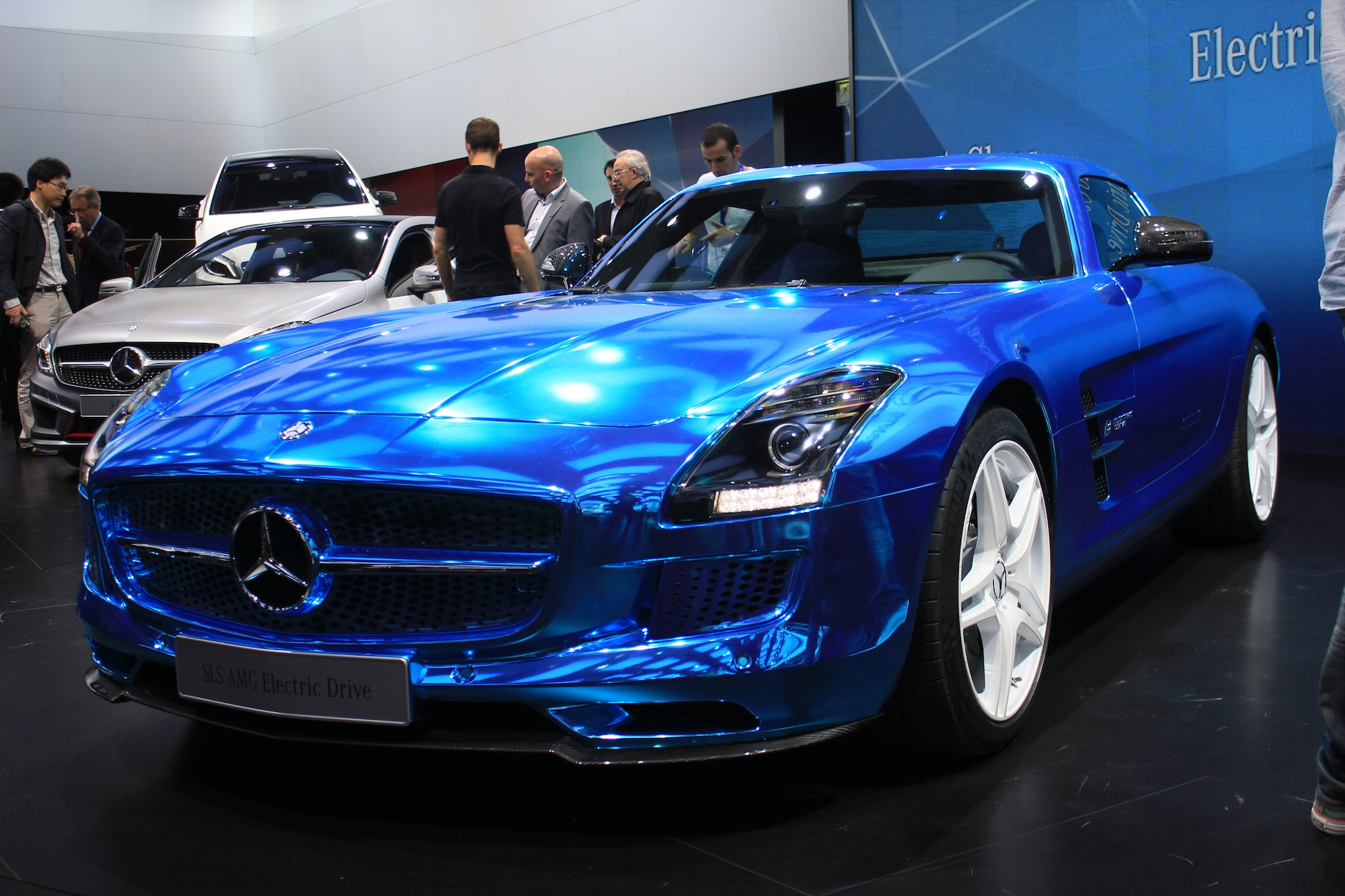Mercedes Benz Sls Amg Electric Drive Live Photos 2012