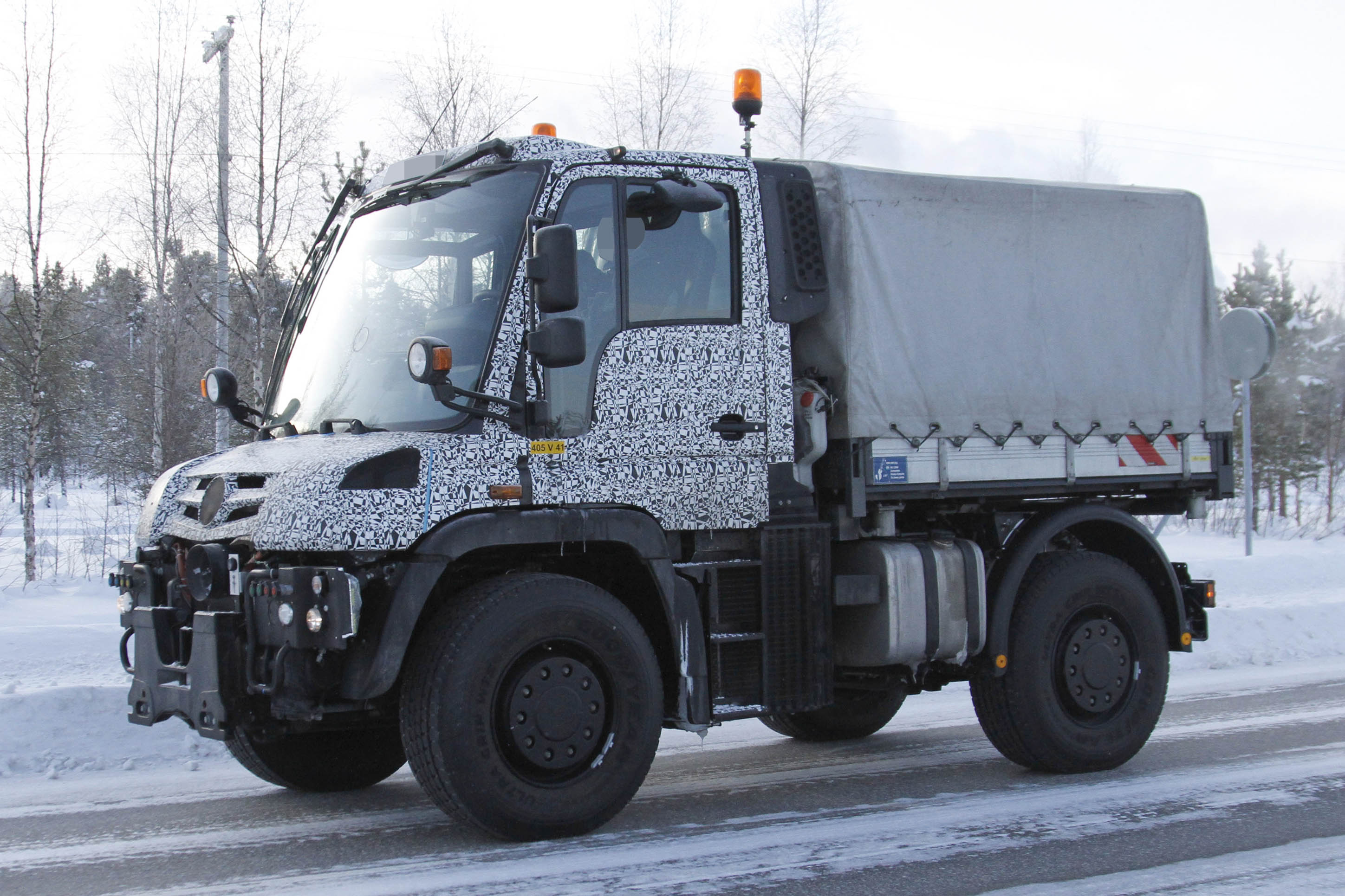 2013 Mercedes Benz Unimog Spy Shots