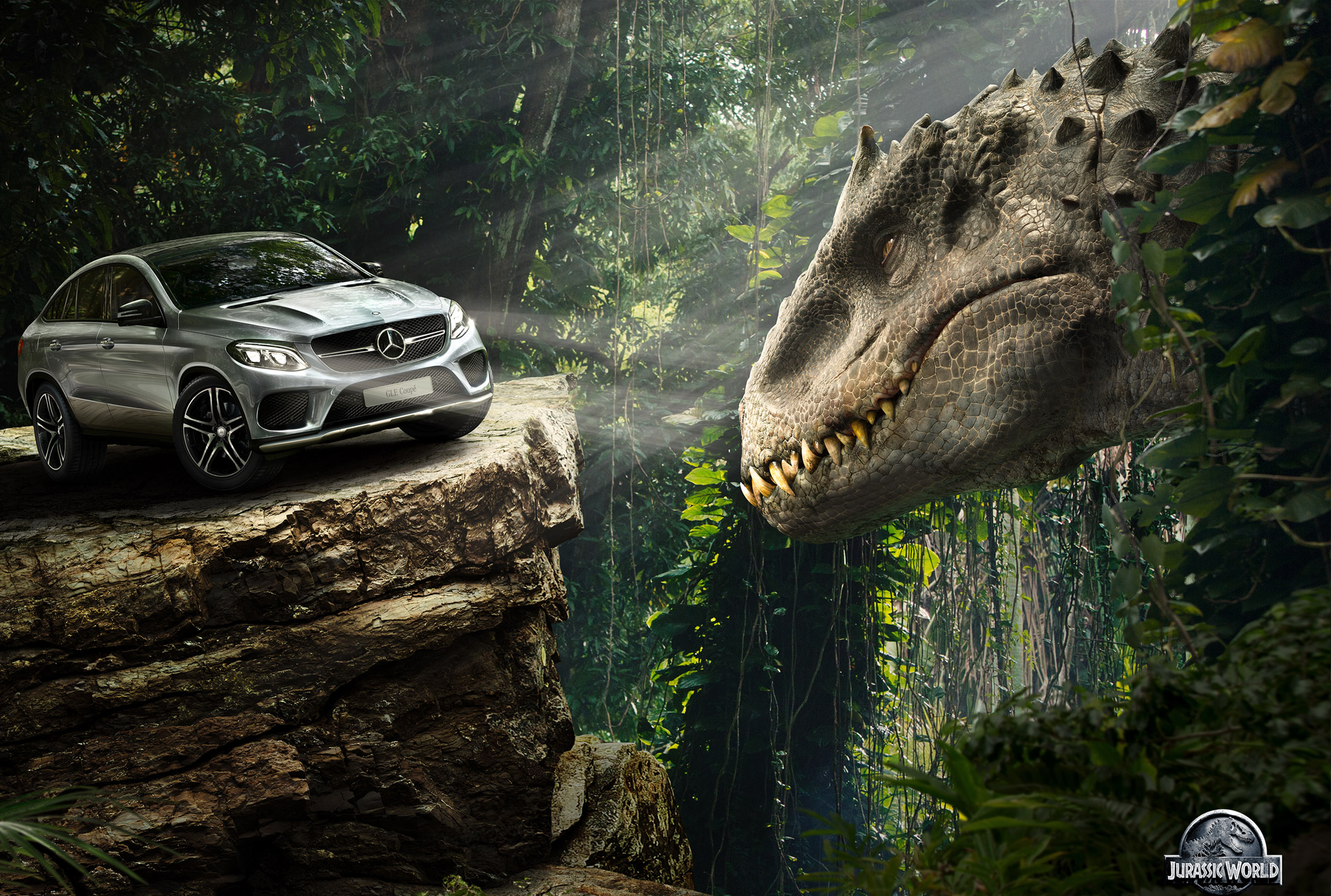 mercedes fleet including unimogs and g63 6x6 starring in 'jurassic