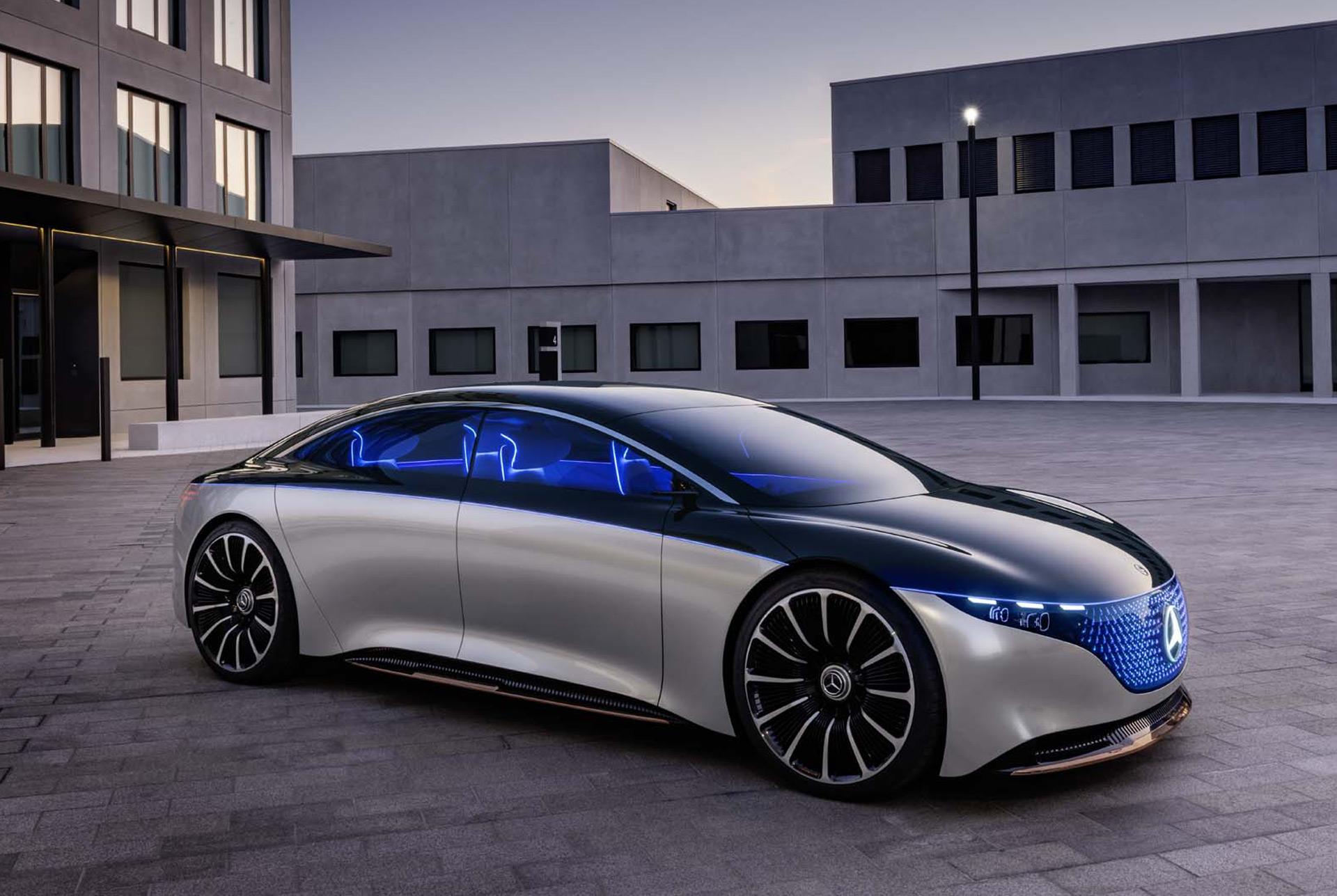 Mercedes Amg Eqs Electric Fastback Could Challenge Tesla Model S Plaid Porsche Taycan