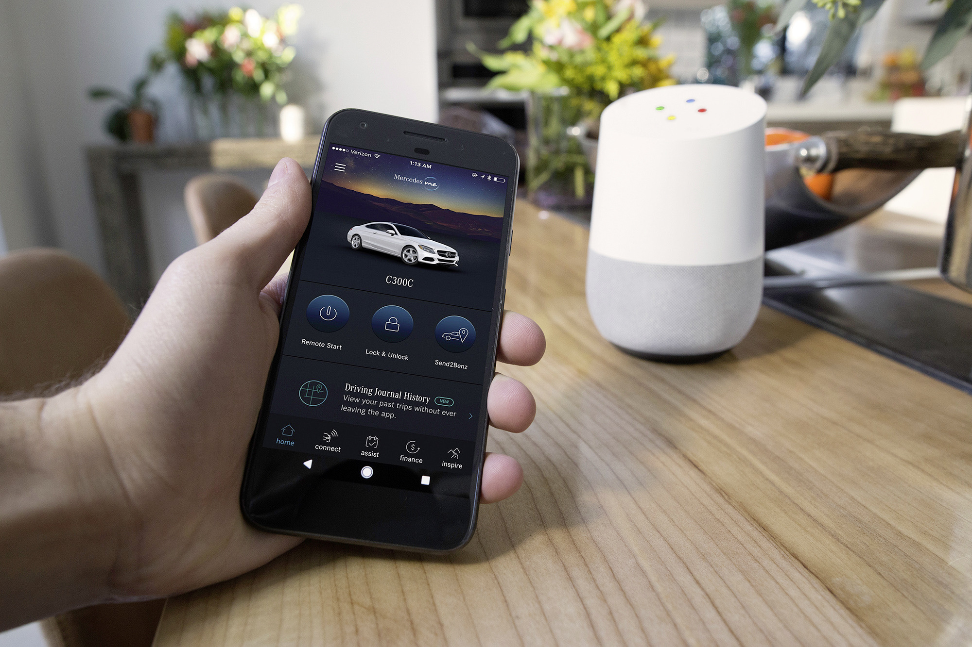 Mercedes benz introduces google home amazon alexa for Www mercedes benz com connect