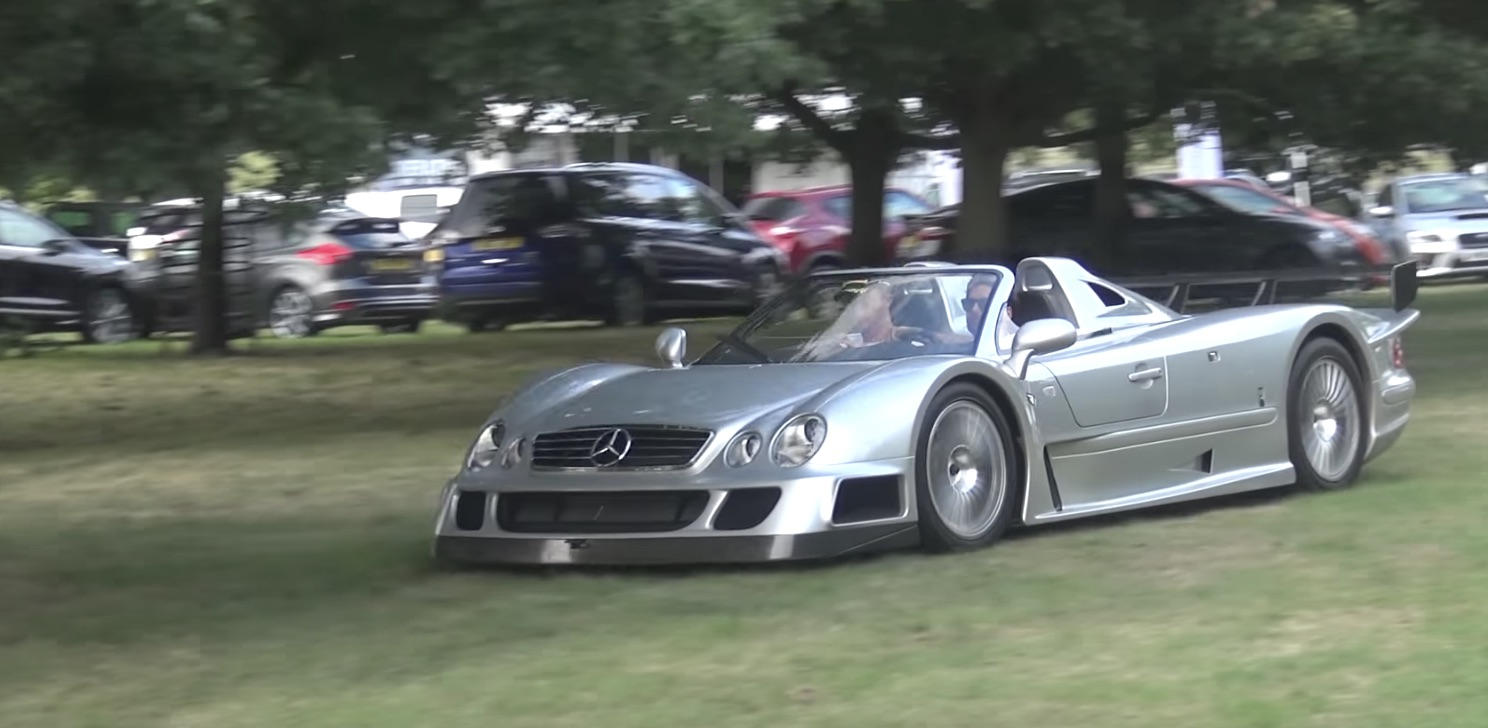 Owner gets dirty, runs dirt rally stage in Mercedes-Benz CLK GTR