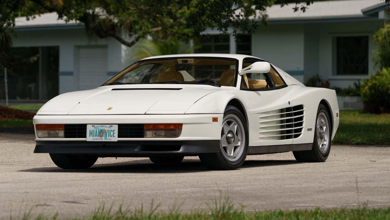 Miami Vice Ferrari Testarossa Hitting The Block In Monterey