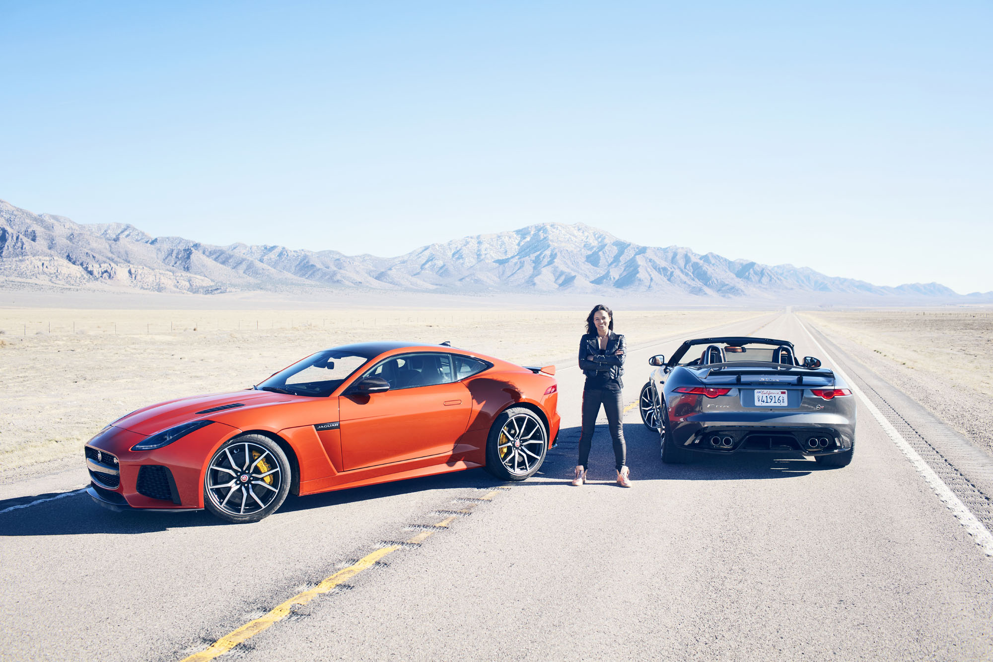 Range Rover Venom >> Fast and Furious' Michelle Rodriguez hits 201 mph in Jaguar F-Type SVR: Video