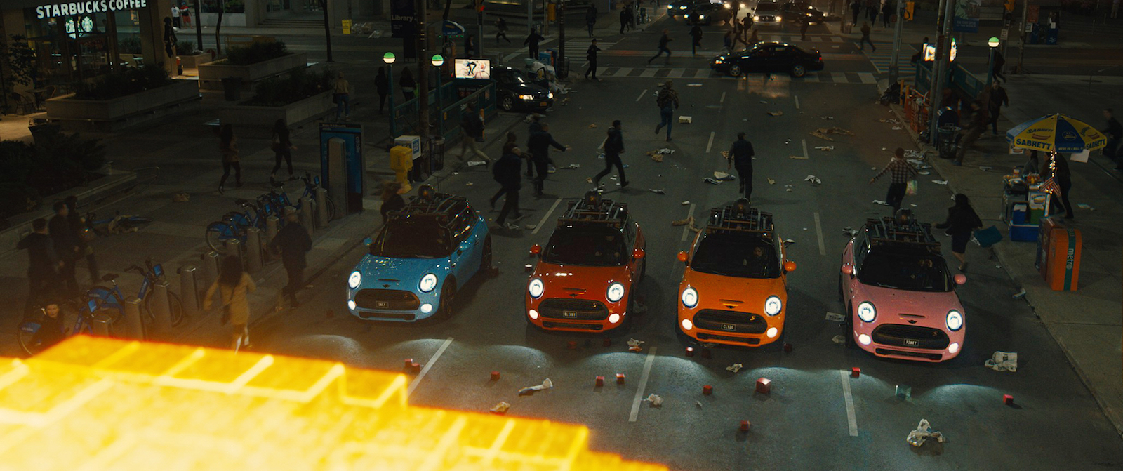 Minis Play The Role Of Pac Man Ghosts In Pixels H