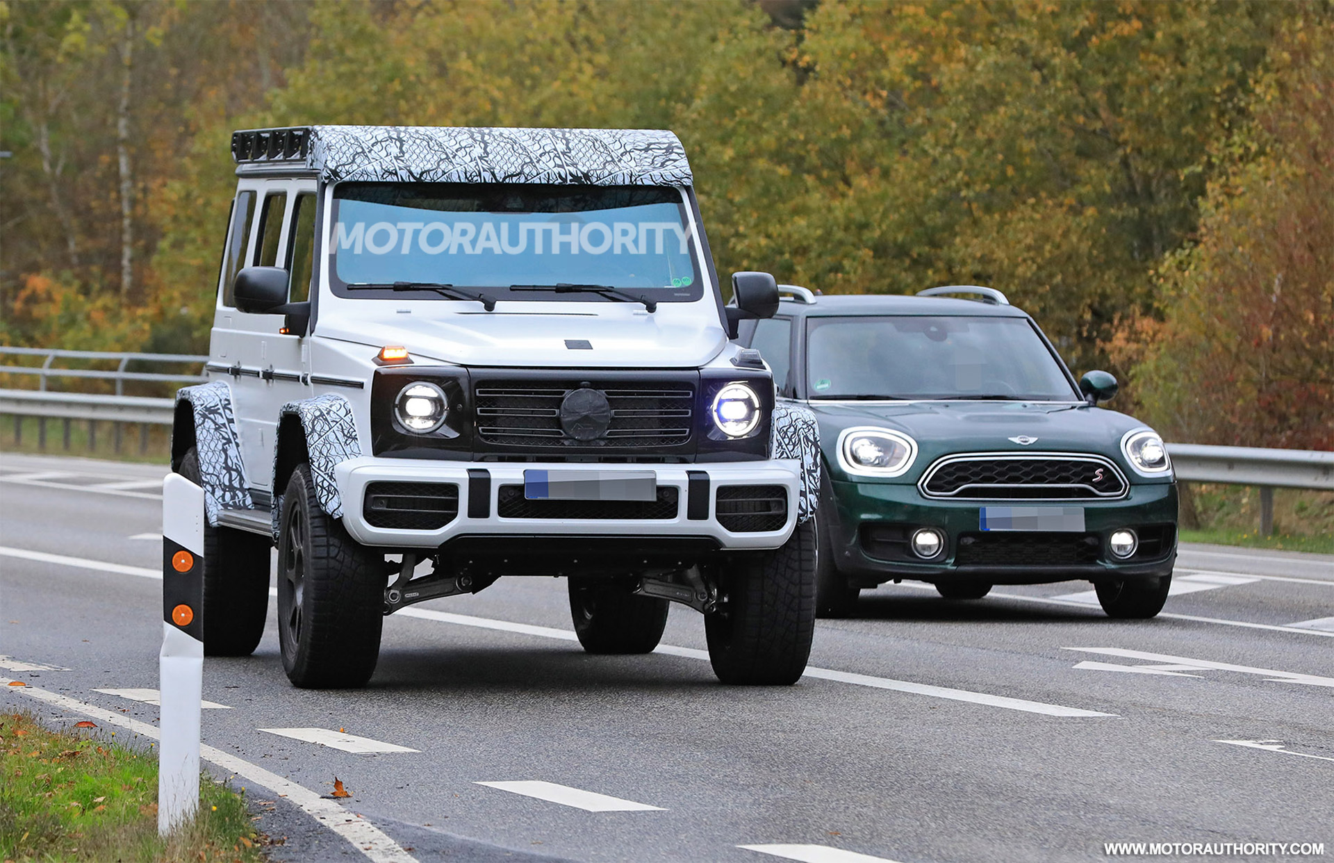 2022 Mercedes Benz G Class 4x4 Squared Spy Shots Luxury Monster Truck Set For Return