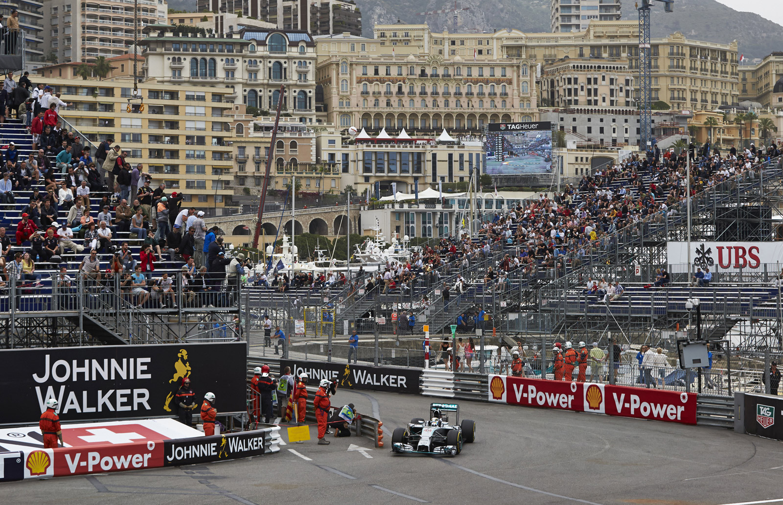 Mercedes AMG Drivers Fill Front Row After Qualifying At 2014 Formula One Monaco GP