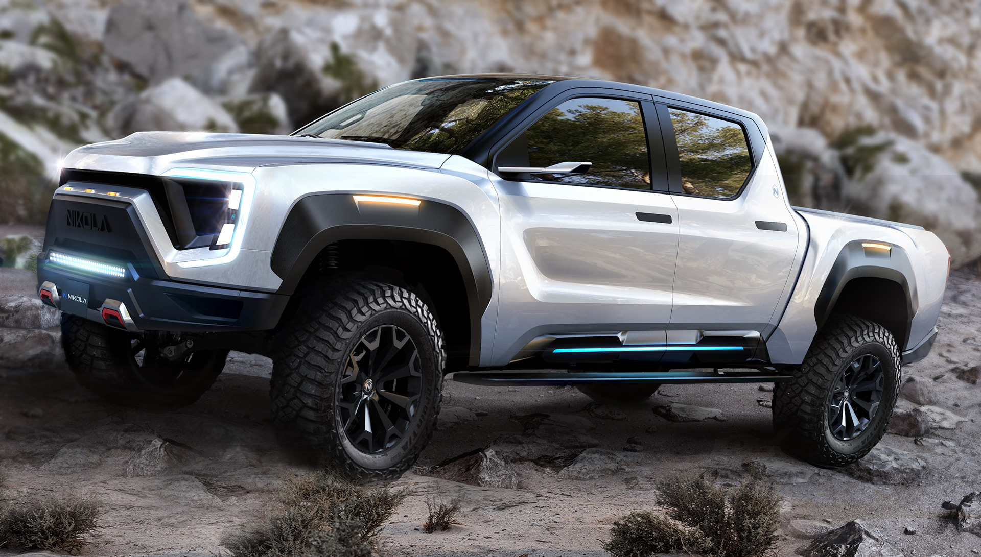 Nikola Badger is first electric pickup with hydrogen range extender