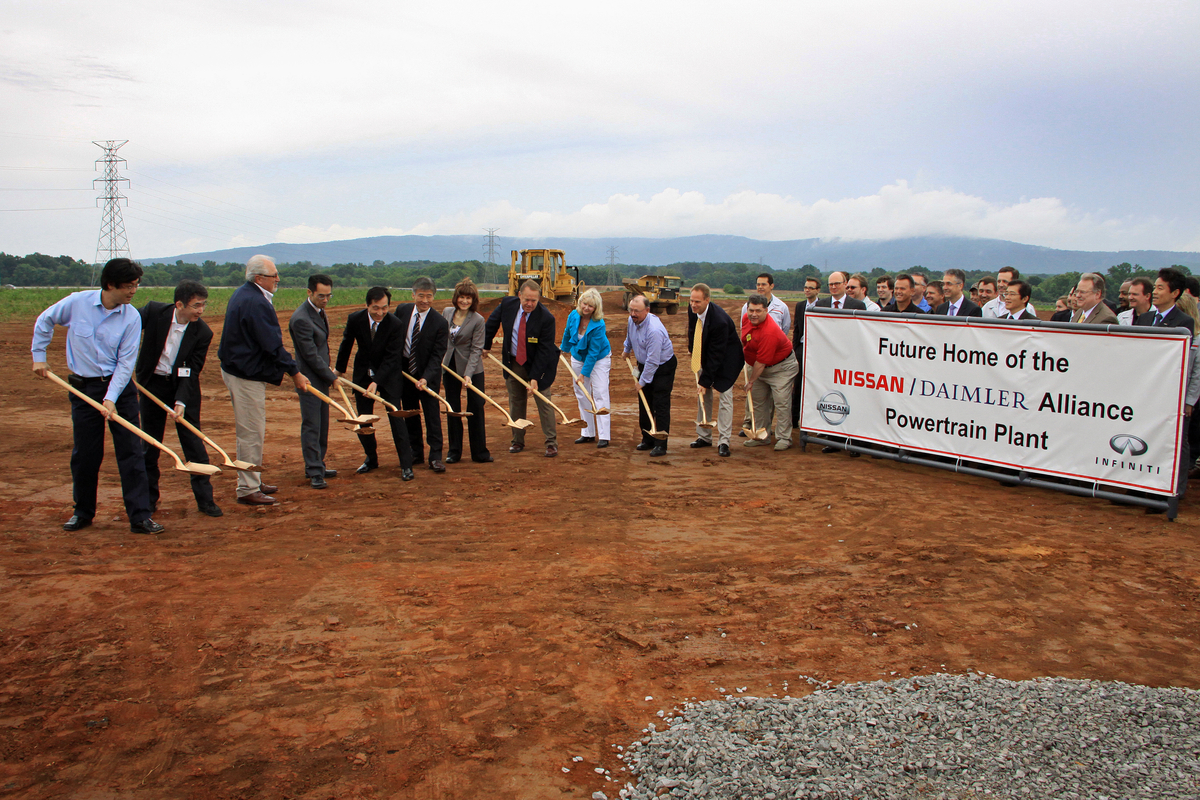 Nissan Breaks Ground For Mercedes Benz Infiniti Engine Plant In Tennessee