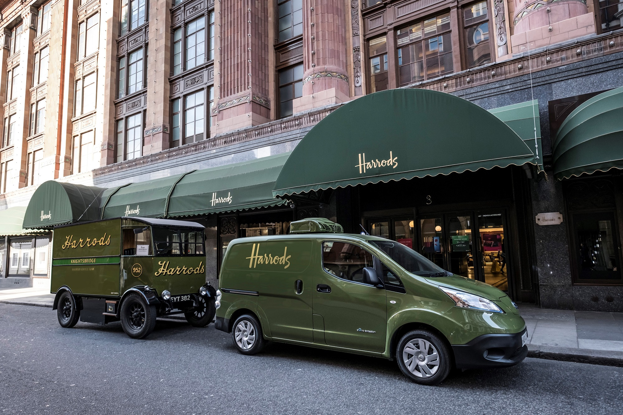 European brands adopt electric delivery trucks: Harrods ...