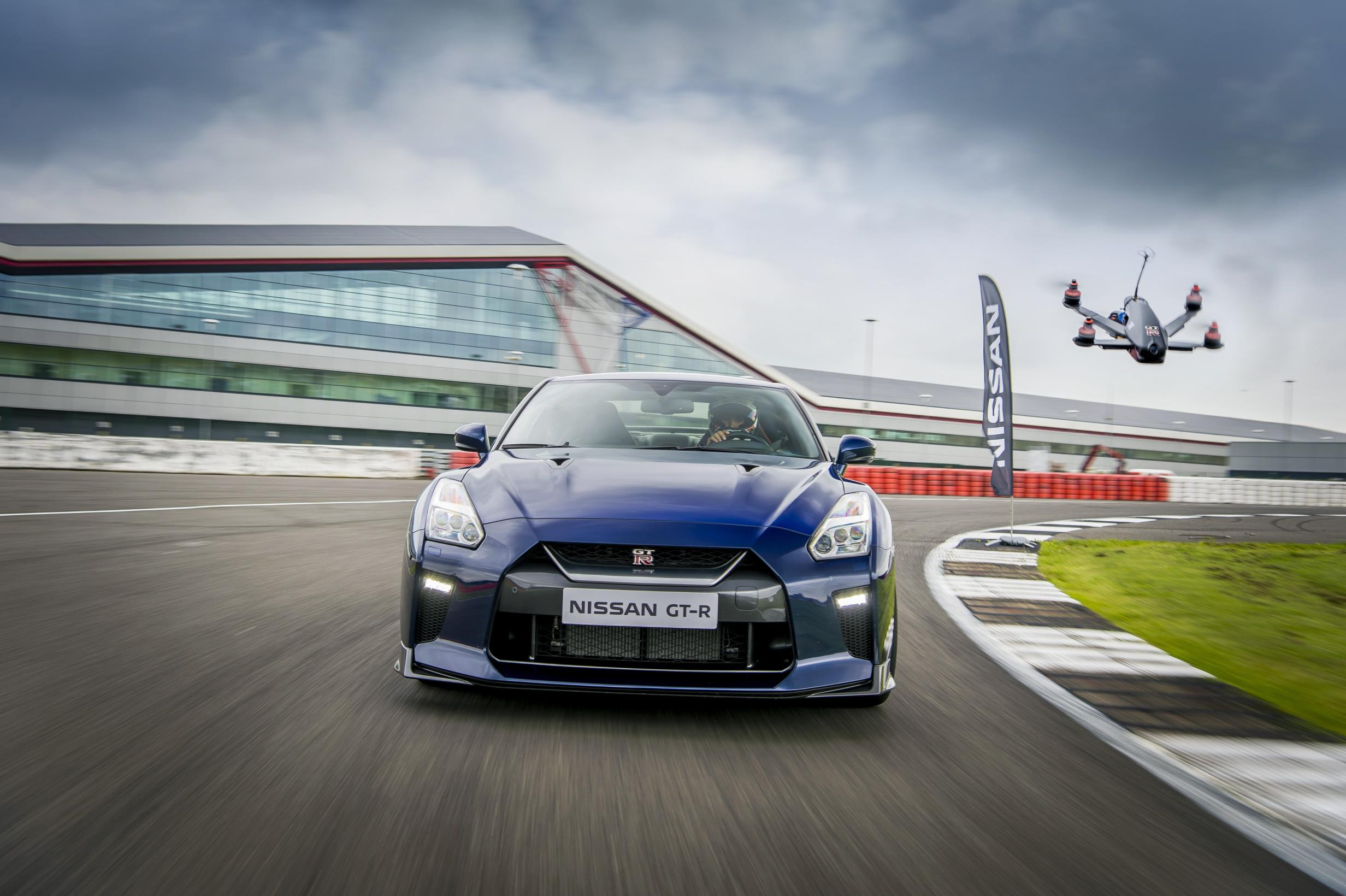 Nissan's new drone can keep up with the GT-R on a racetrack